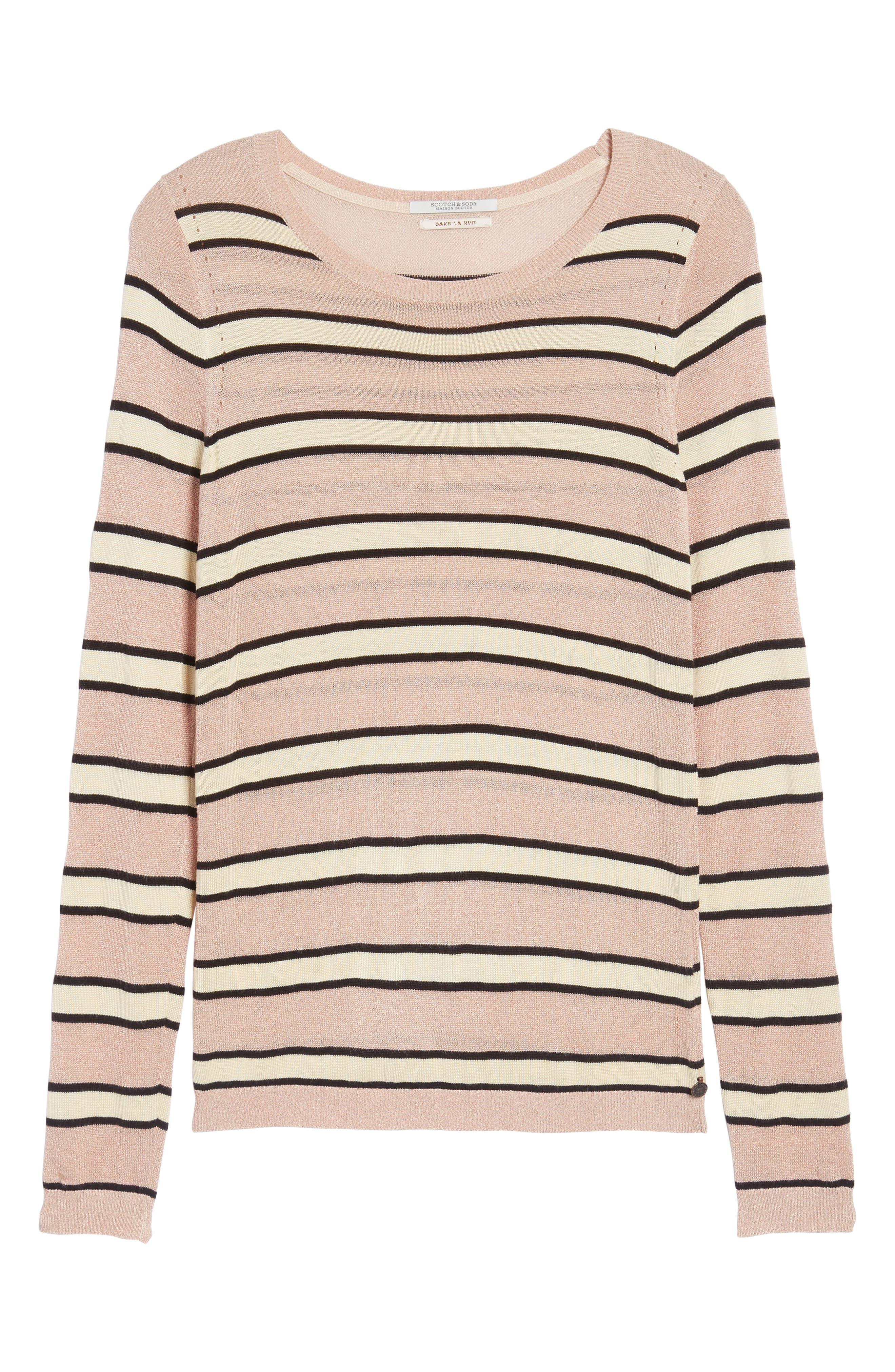 Stripe Sweater,                             Alternate thumbnail 6, color,                             Combo B