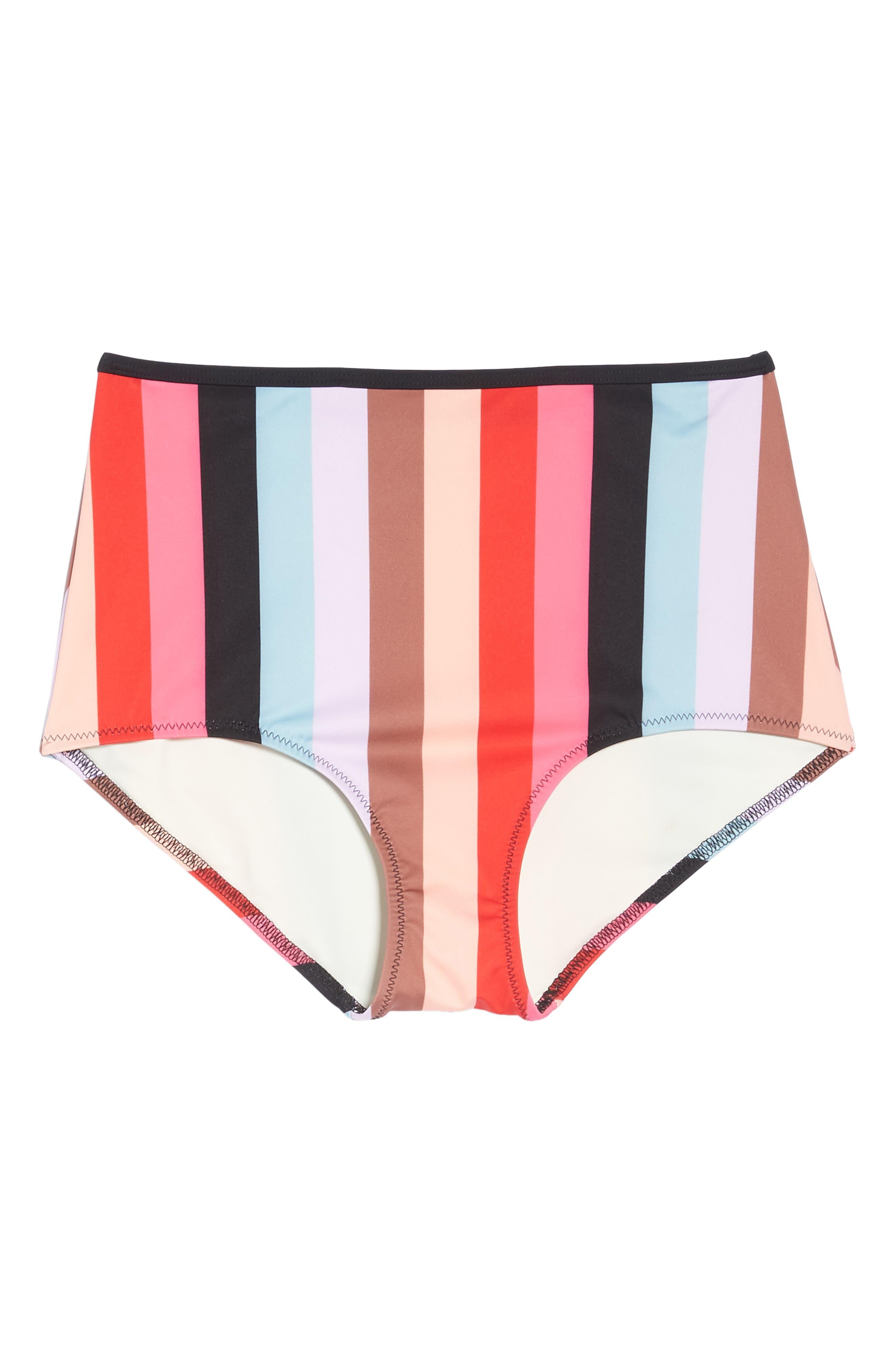 The Brigitte Bikini Bottoms,                             Alternate thumbnail 9, color,                             Red Multi