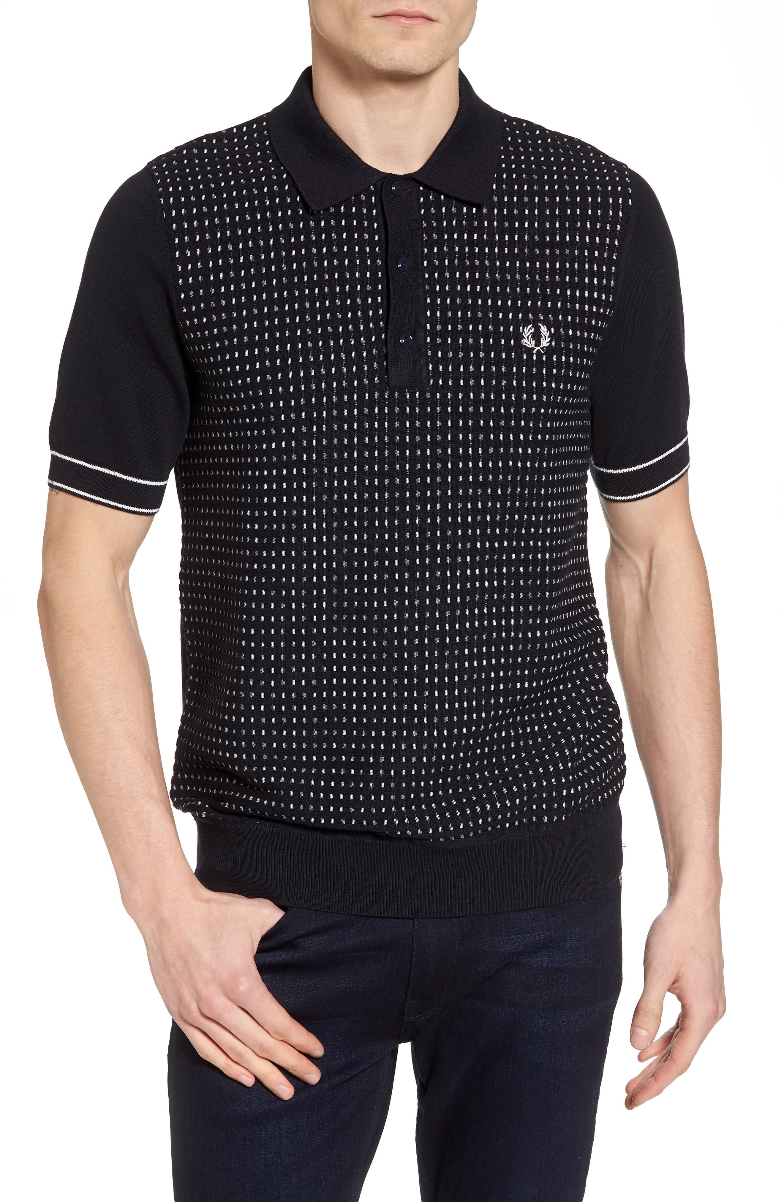 Alternate Image 1 Selected - Fred Perry Jacquard Polo Shirt