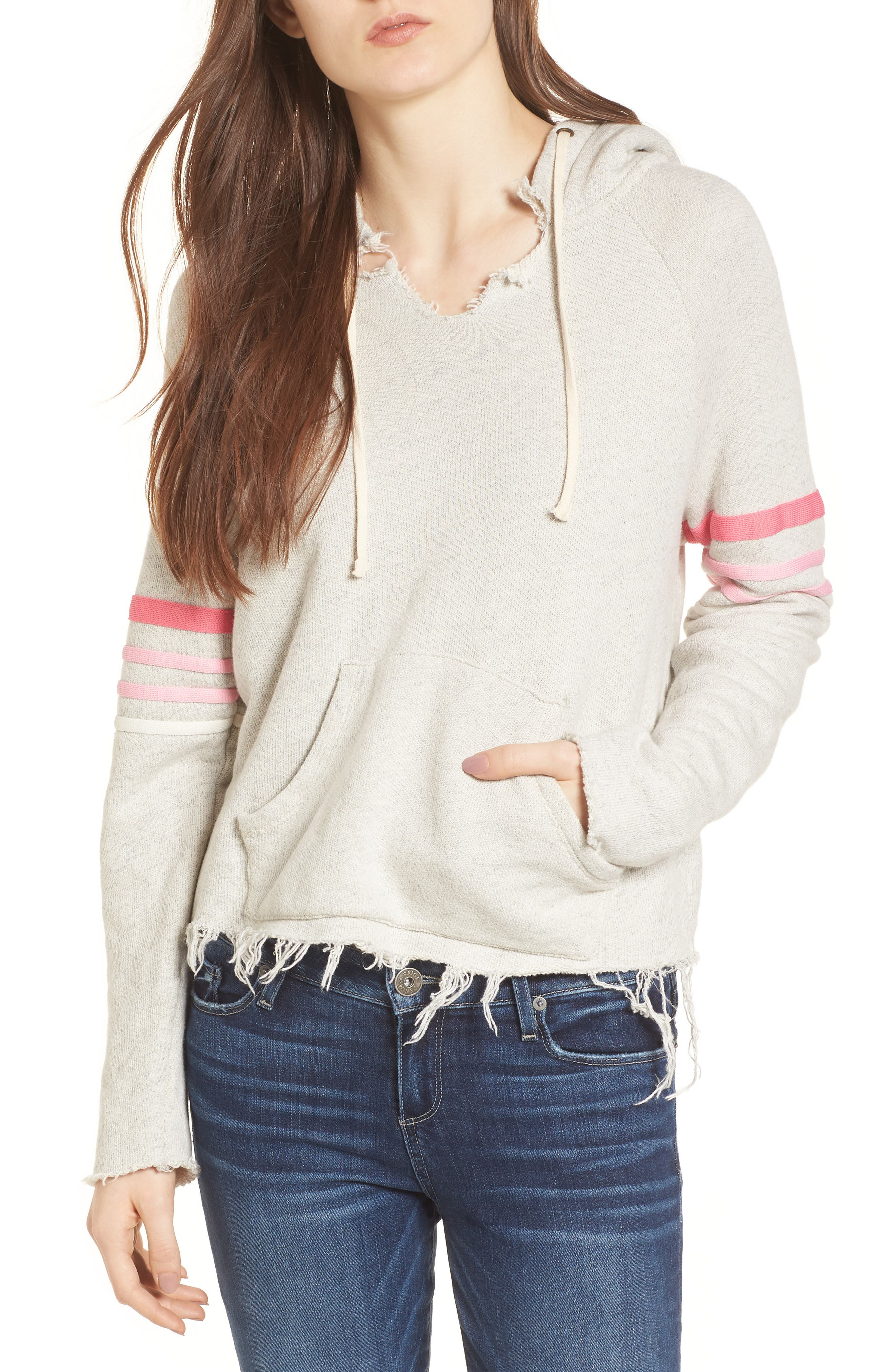 MOTHER The Square Raw Hem Hoodie