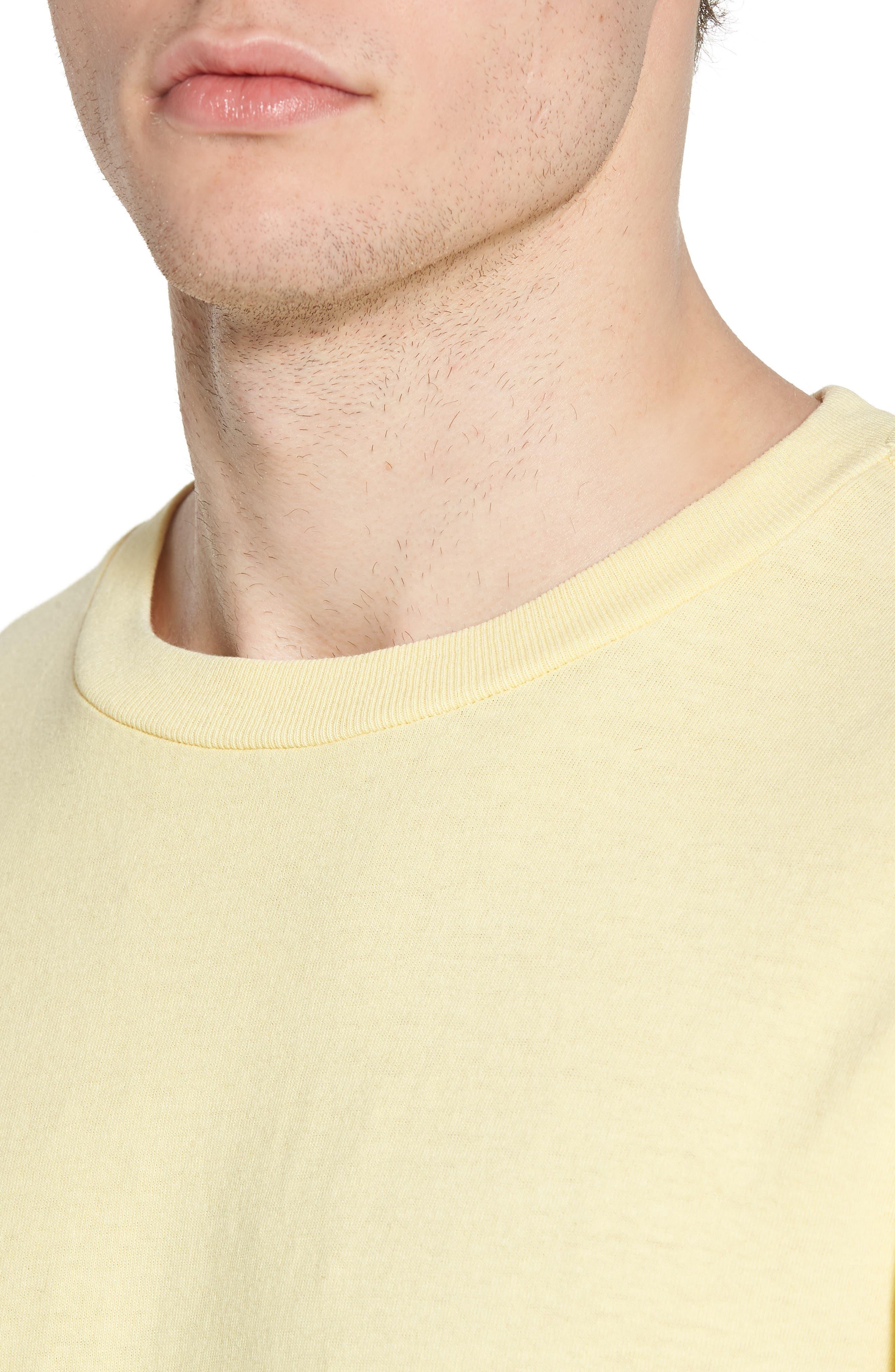 New World II Pigment T-Shirt,                             Alternate thumbnail 4, color,                             Dusty Lemon