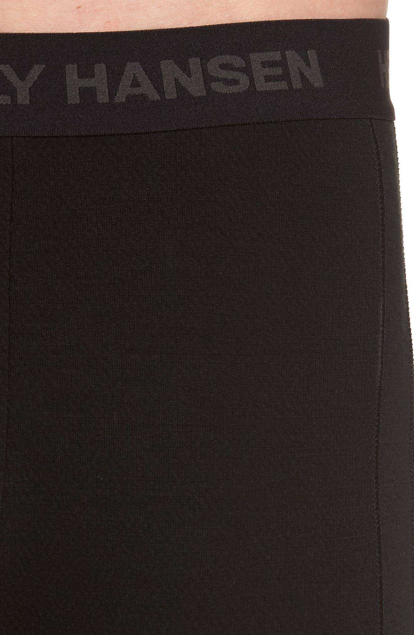 Lifa Merino Wool Blend Tights,                             Alternate thumbnail 4, color,                             Black