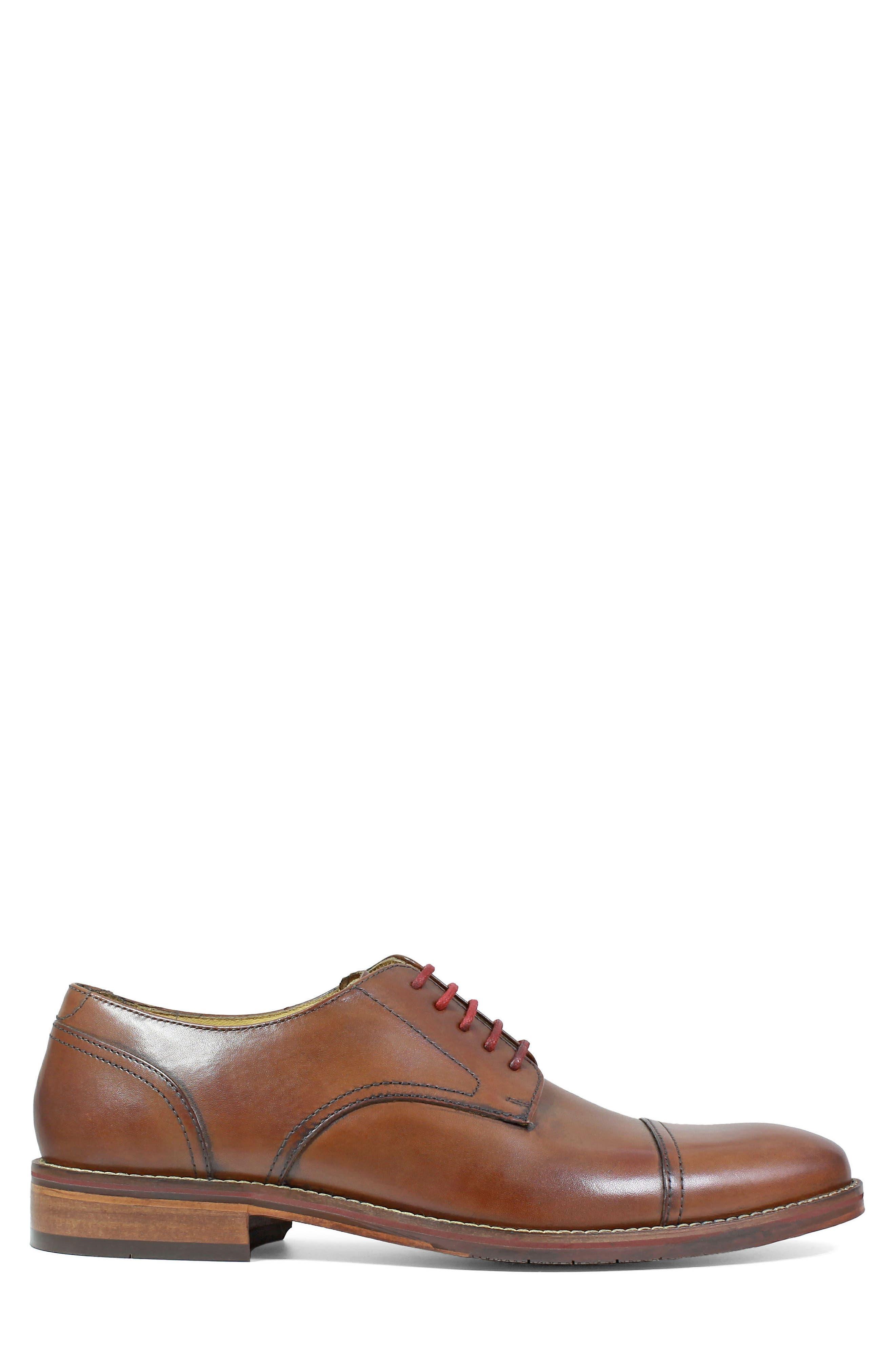 Salerno Wingtip,                             Alternate thumbnail 3, color,                             Cognac Leather