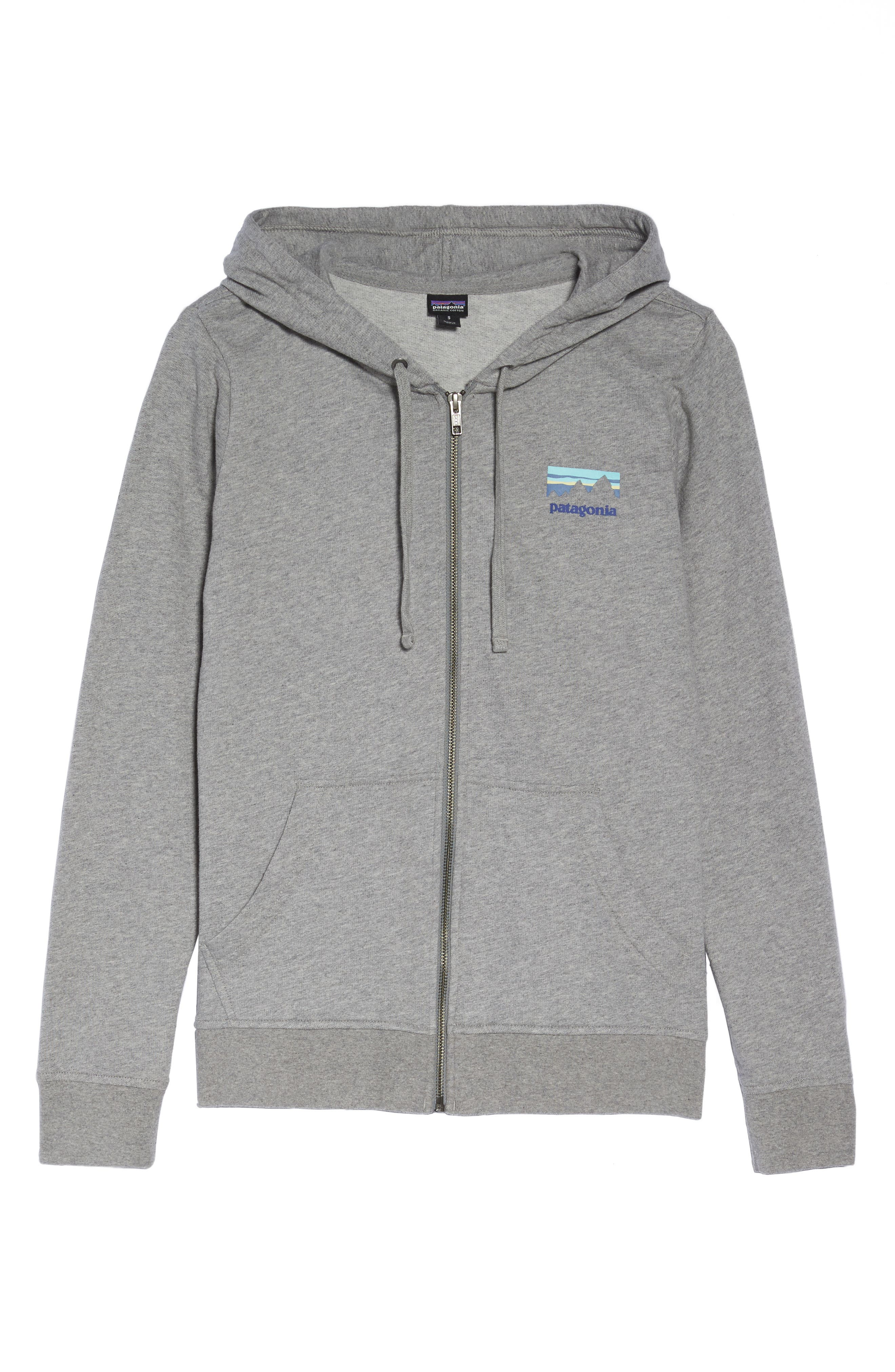 Shop Sticker Zip Hoodie,                             Alternate thumbnail 7, color,                             Feather Grey W/ Viking Blue