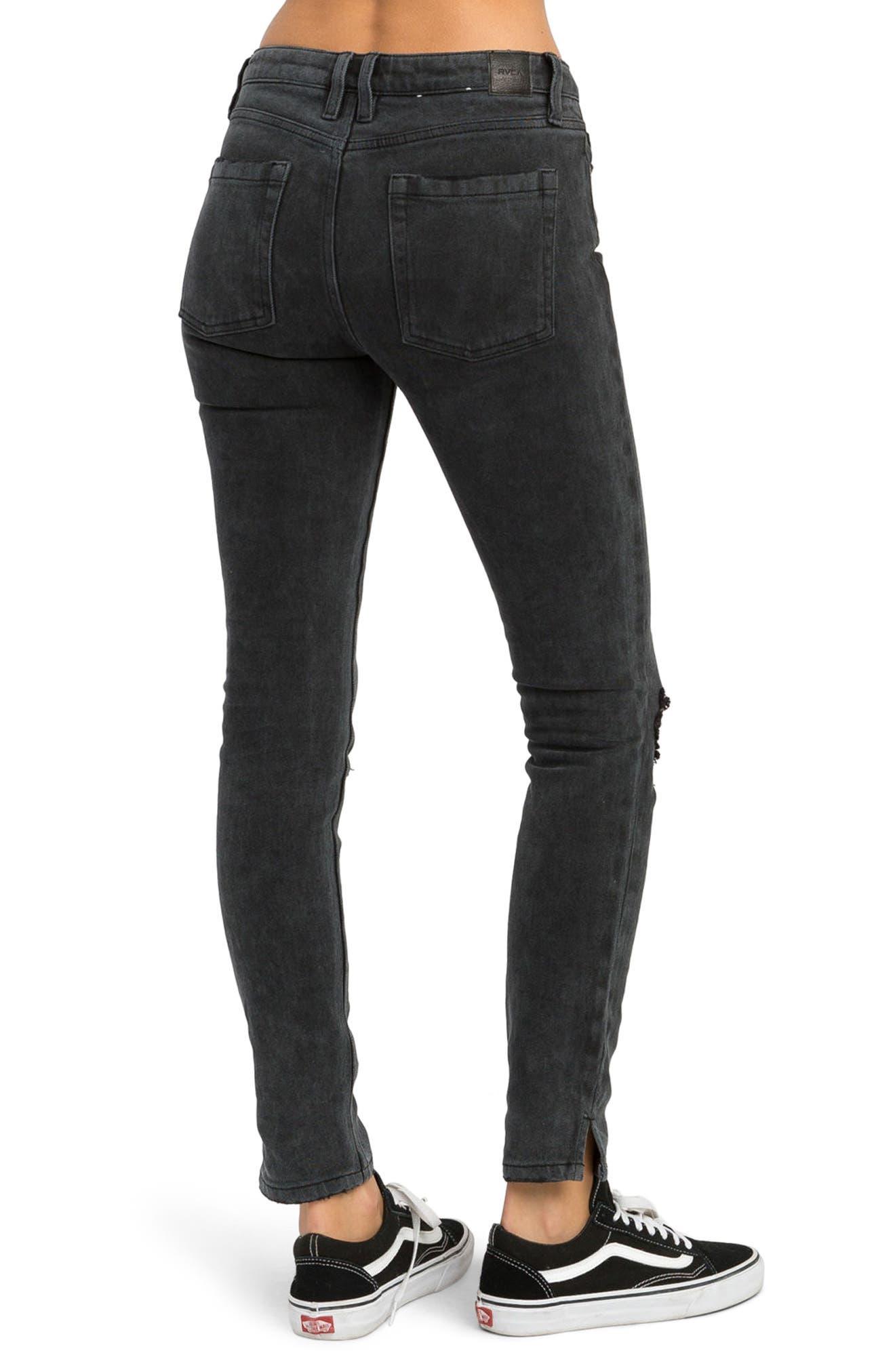 Alternate Image 4  - RVCA Dayley Skinny Jeans