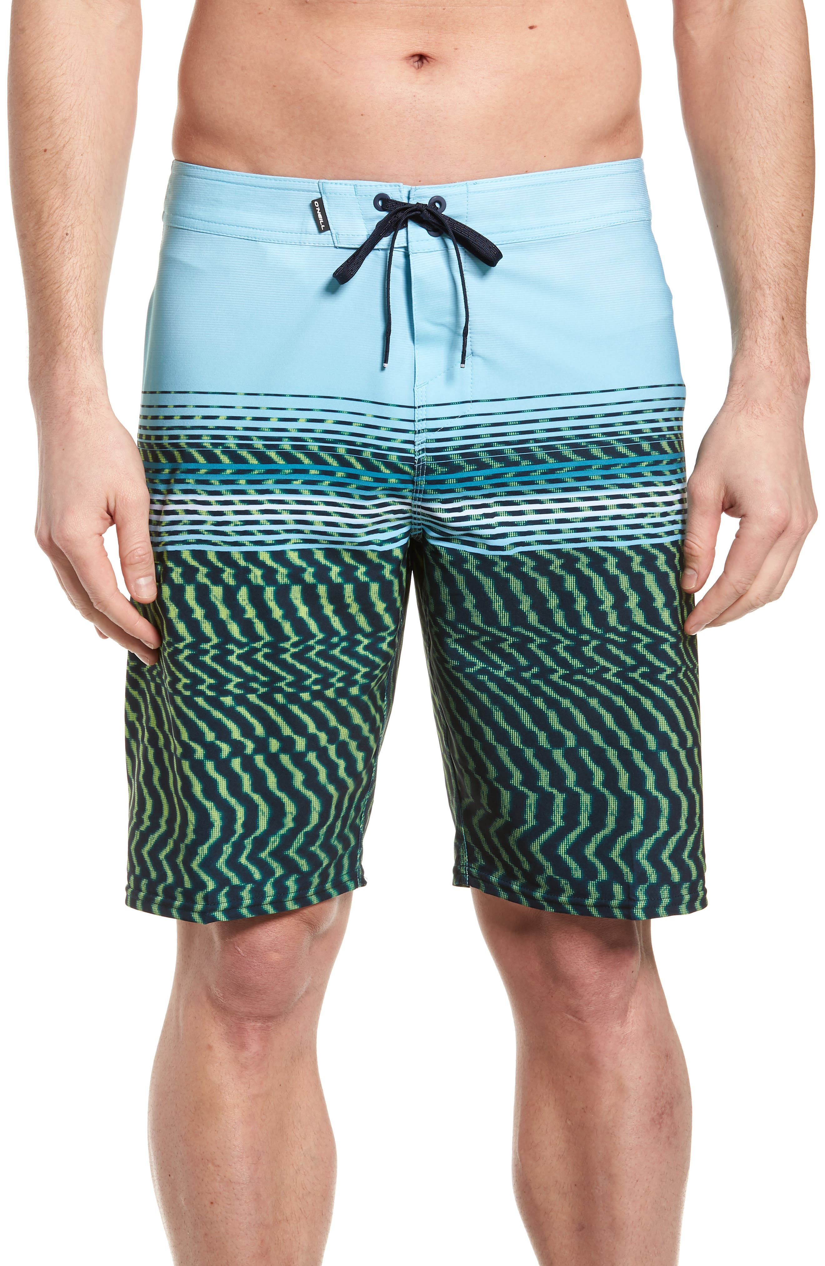 Hyperfreak Wavelength Board Shorts,                         Main,                         color, Lime