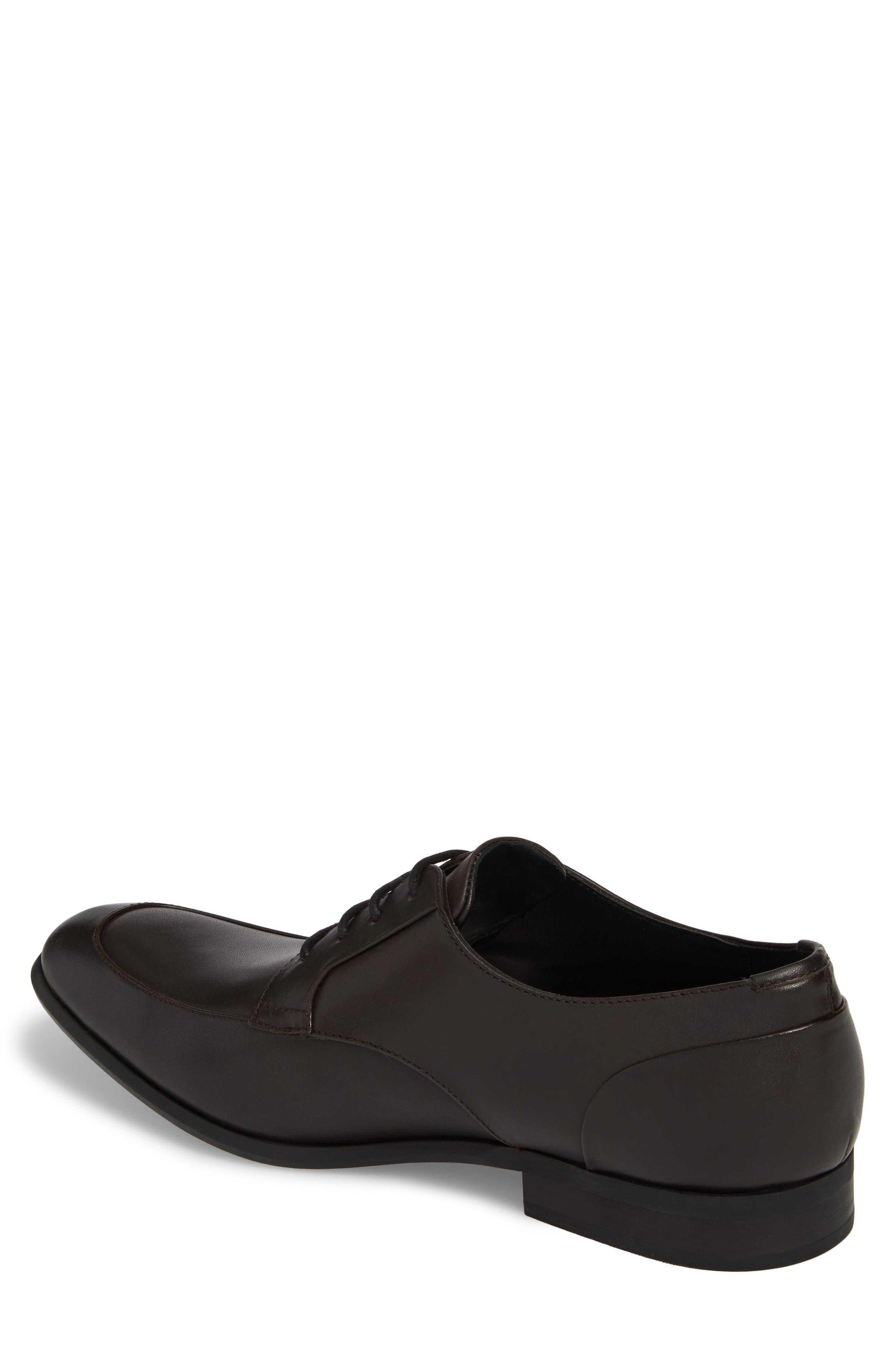 Lazarus Apron Toe Derby,                             Alternate thumbnail 2, color,                             Dark Brown Leather