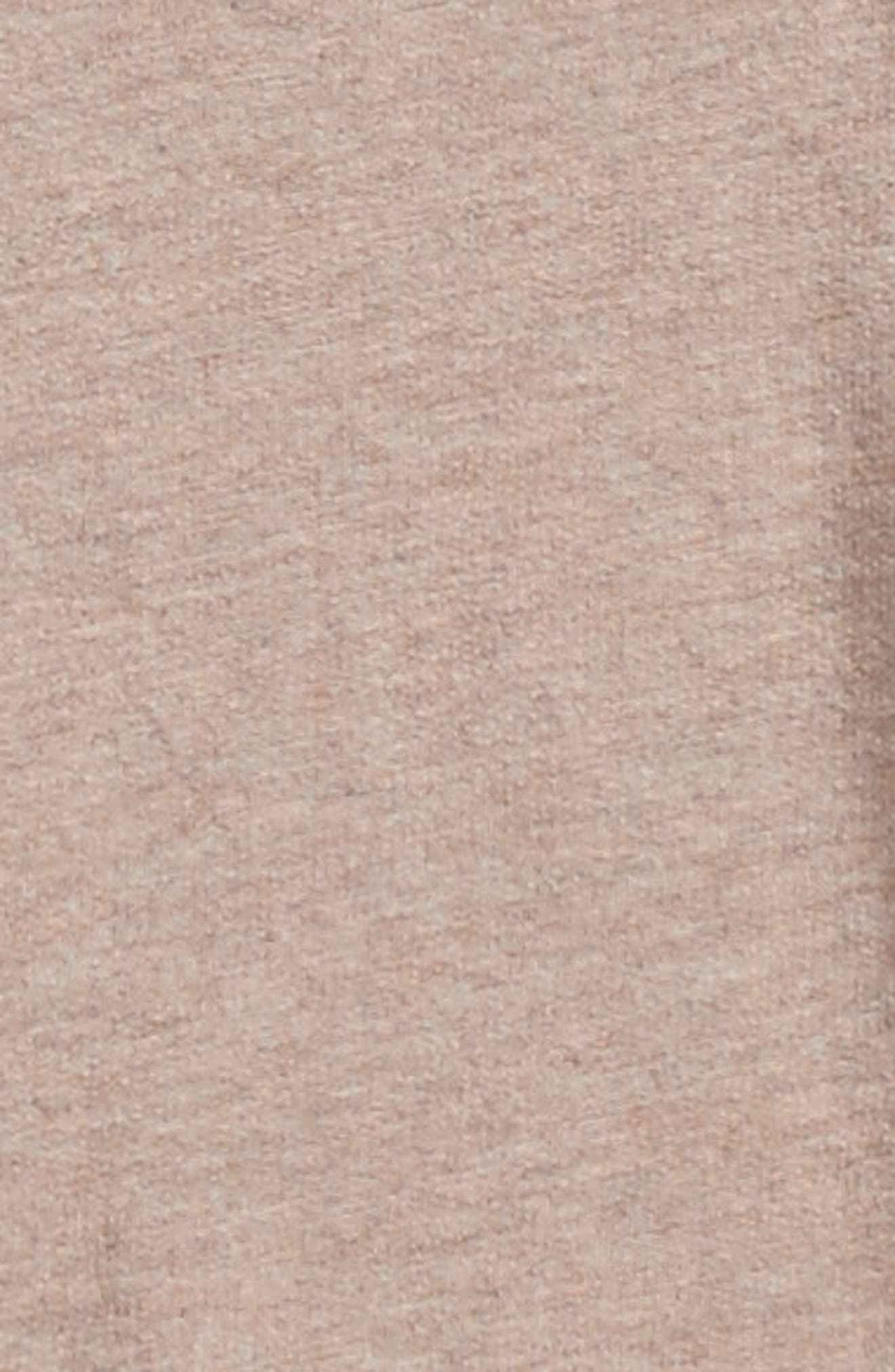 French Terry T-Shirt,                             Alternate thumbnail 3, color,                             Pink Adobe Heather