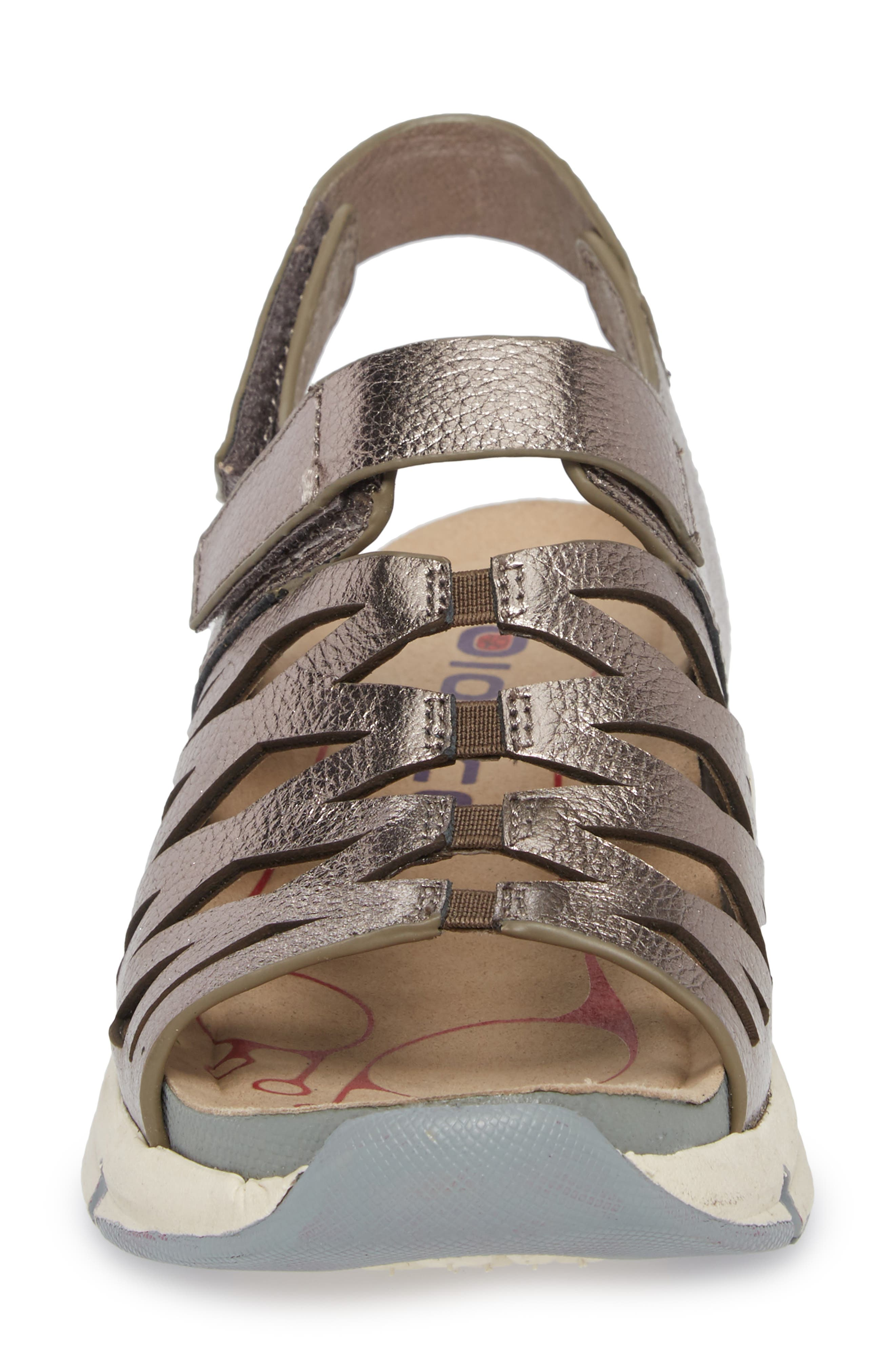 Ossipee Sandal,                             Alternate thumbnail 4, color,                             Anthracite Leather