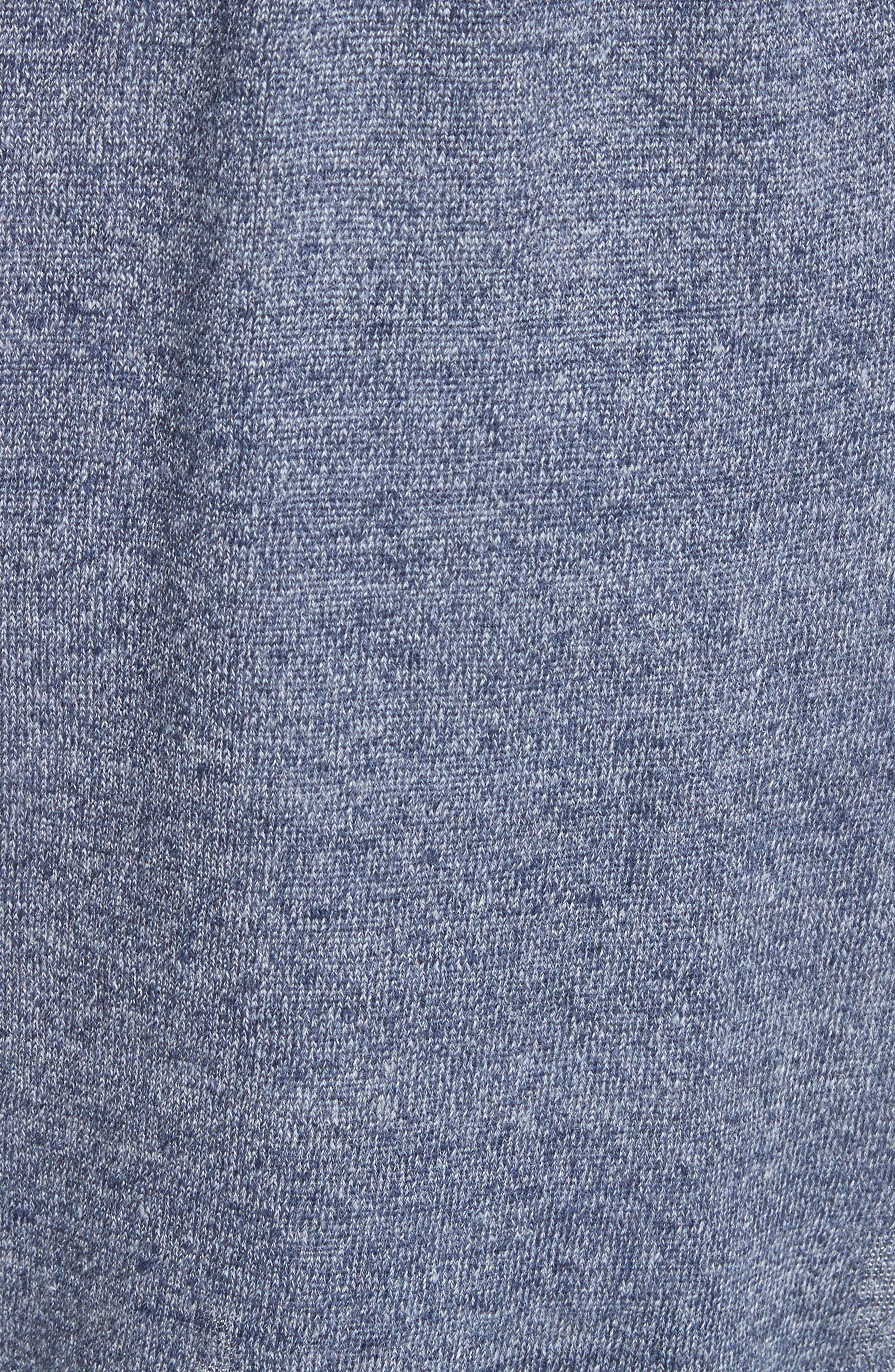 Salma Suede Front Longline Vest,                             Alternate thumbnail 6, color,                             Celestial Blue
