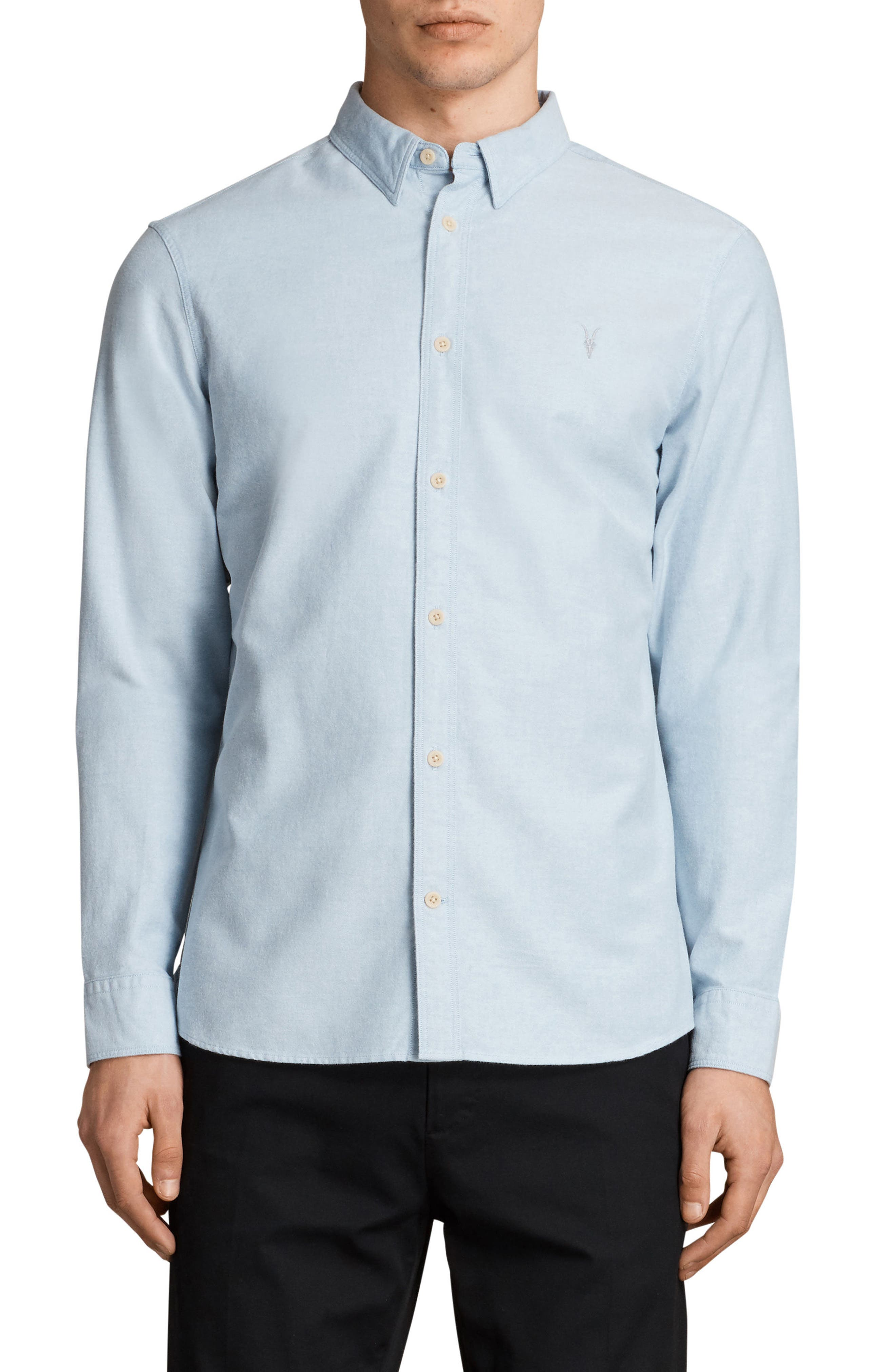 Huntington Regular Fit Sport Shirt,                             Main thumbnail 1, color,                             Light Blue