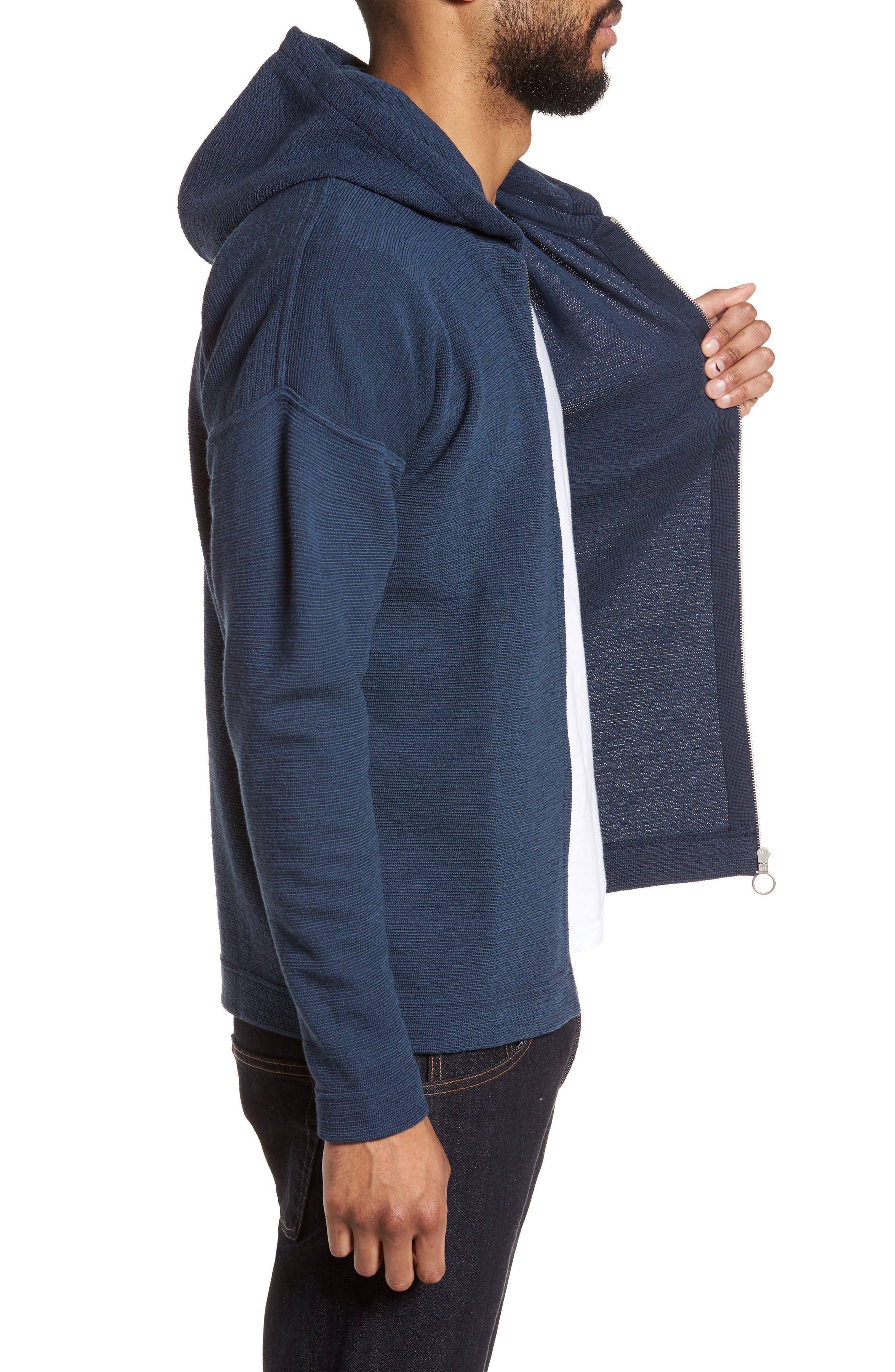 Origo Wool Hoodie,                             Alternate thumbnail 3, color,                             Still Blue