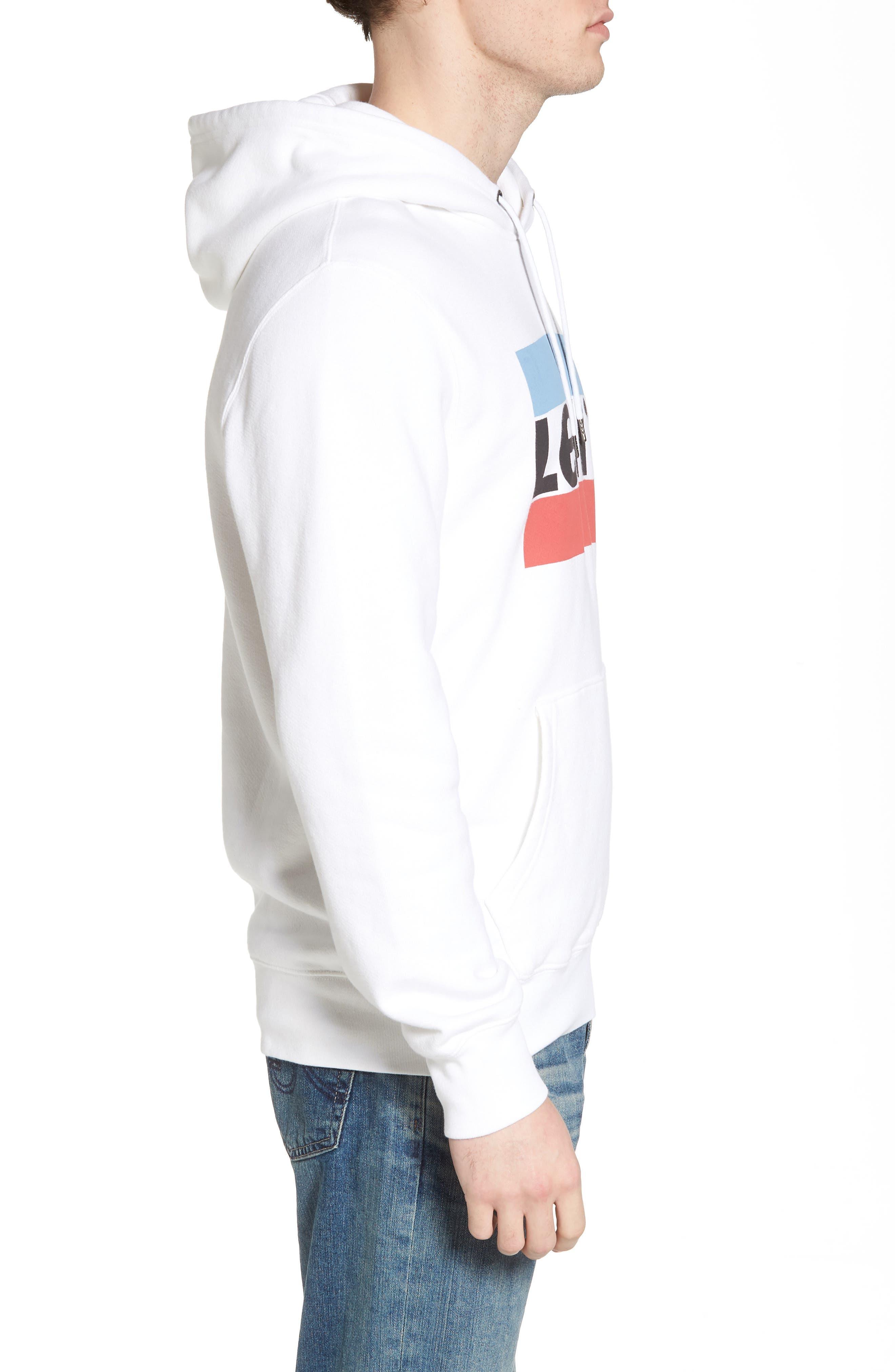 Graphic Hoodie Sweatshirt,                             Alternate thumbnail 3, color,                             Olympic White