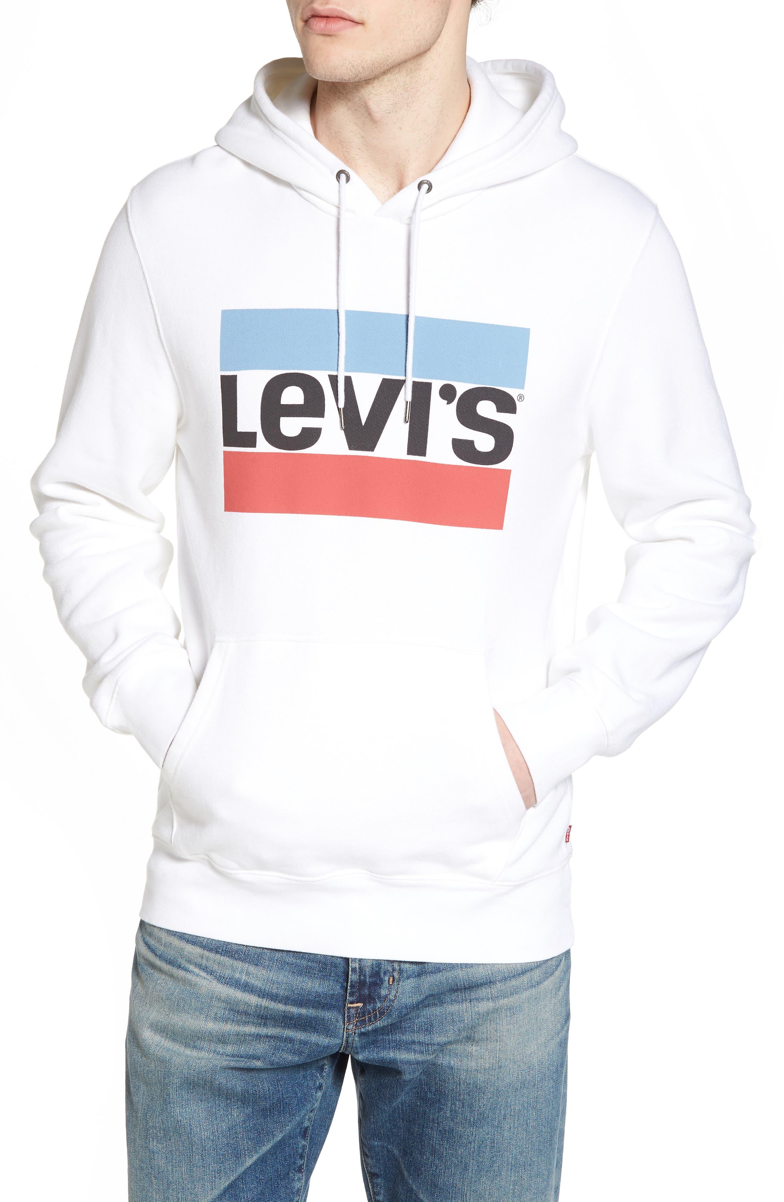 Graphic Hoodie Sweatshirt,                         Main,                         color, Olympic White