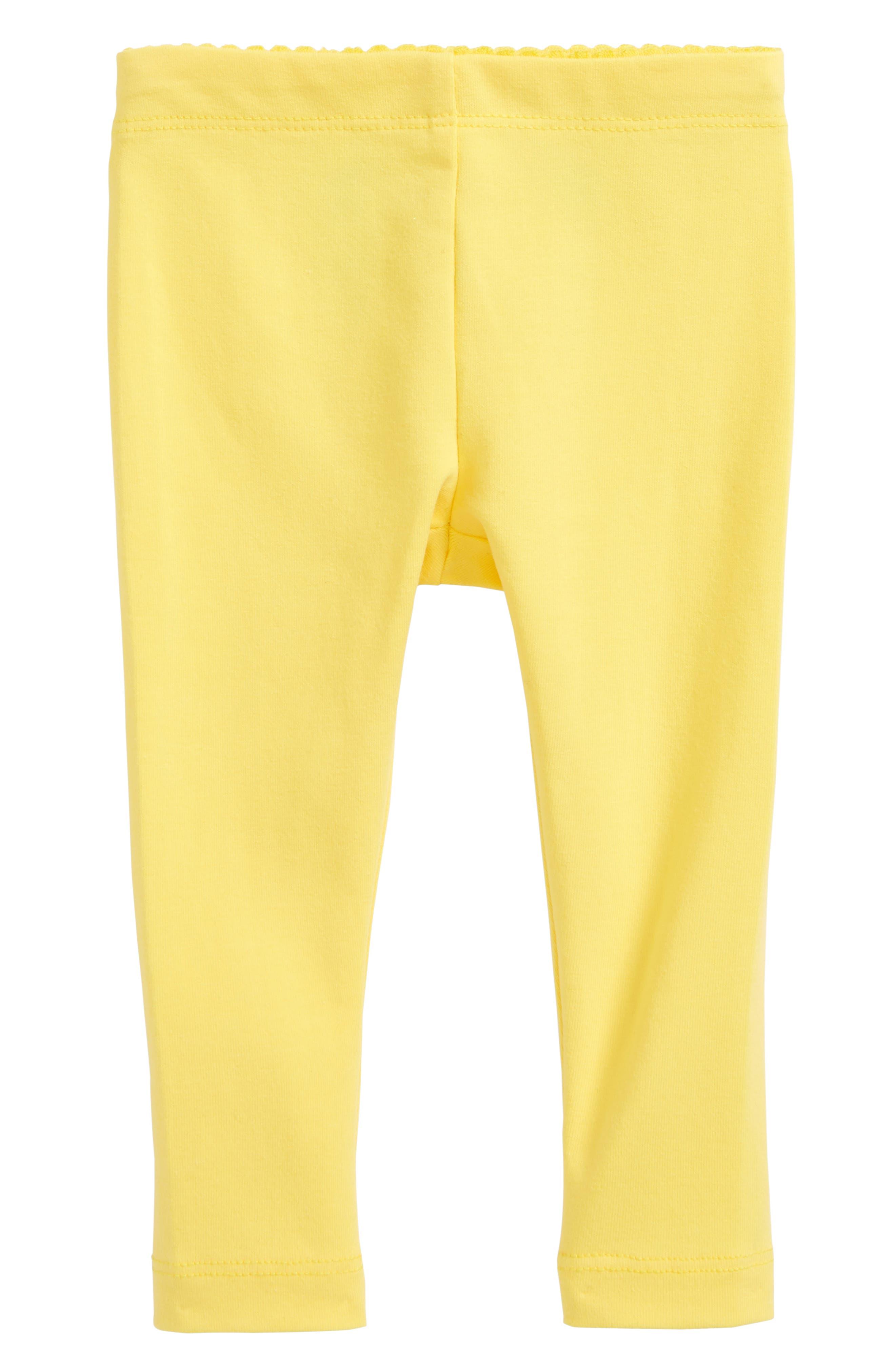 Solid Leggings,                         Main,                         color, Daffodil