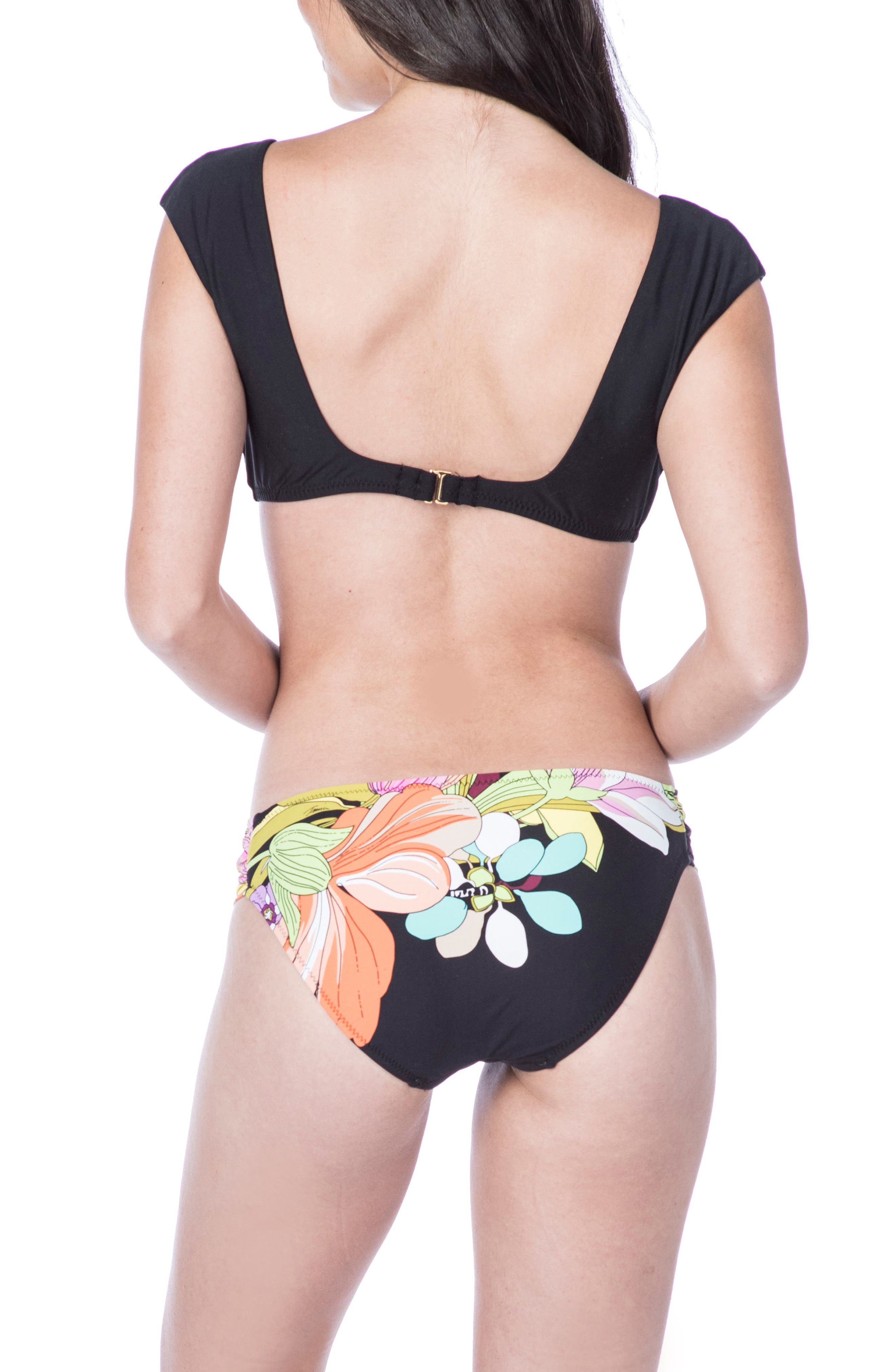 Bouquet Floral Hipster Bikini Bottoms,                             Alternate thumbnail 4, color,                             Multi-Colored
