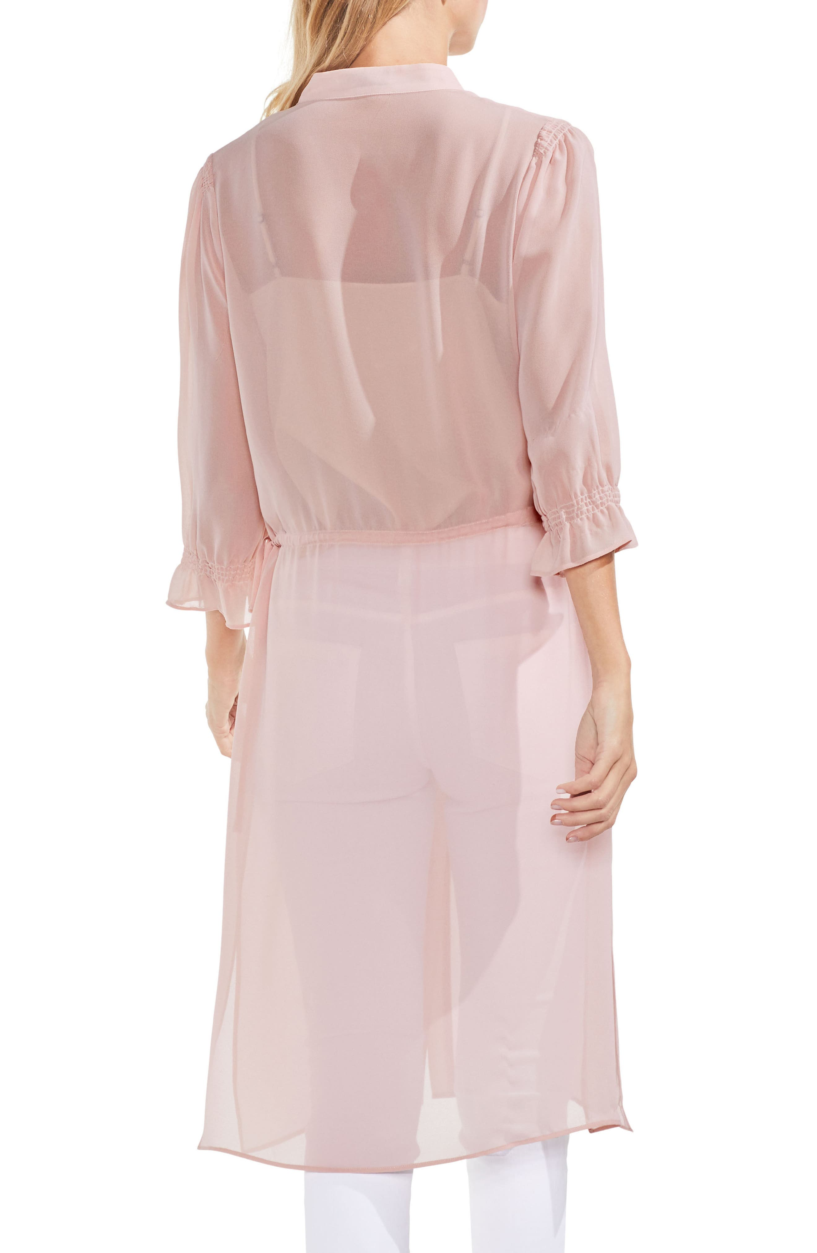 Chiffon Side Tie Tunic,                             Alternate thumbnail 2, color,                             Wild Rose