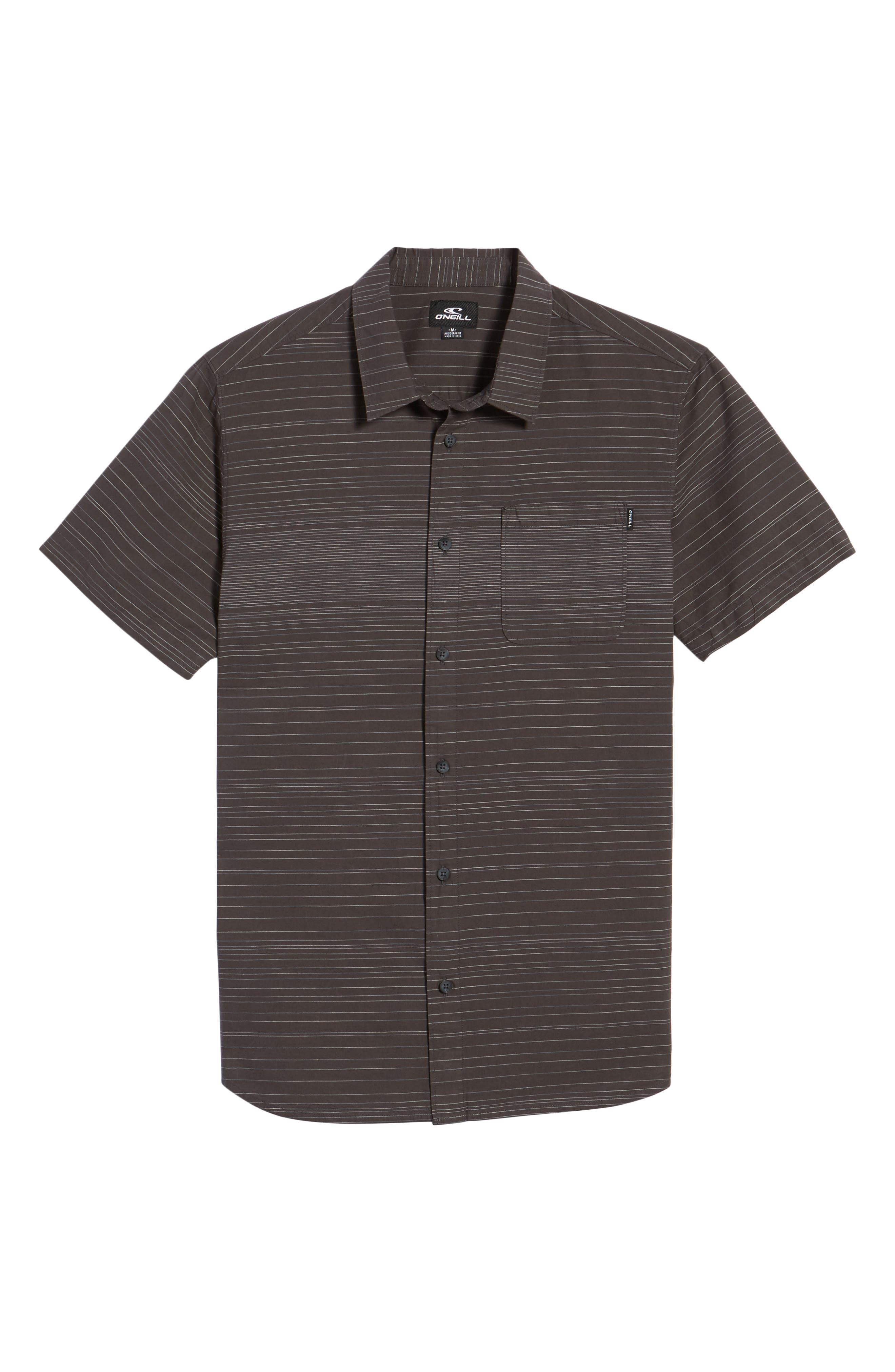 Hound Woven Shirt,                             Alternate thumbnail 6, color,                             Asphalt