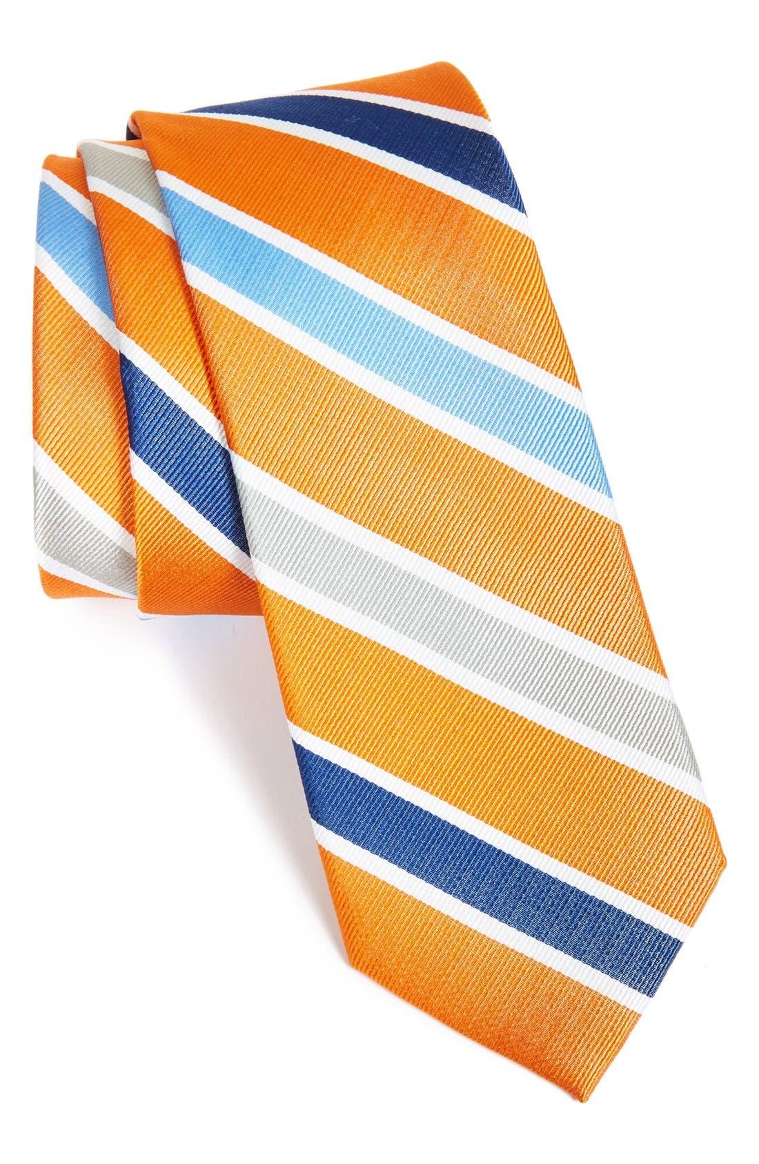 Main Image - 1901 'Como Stripe' Woven Silk Tie