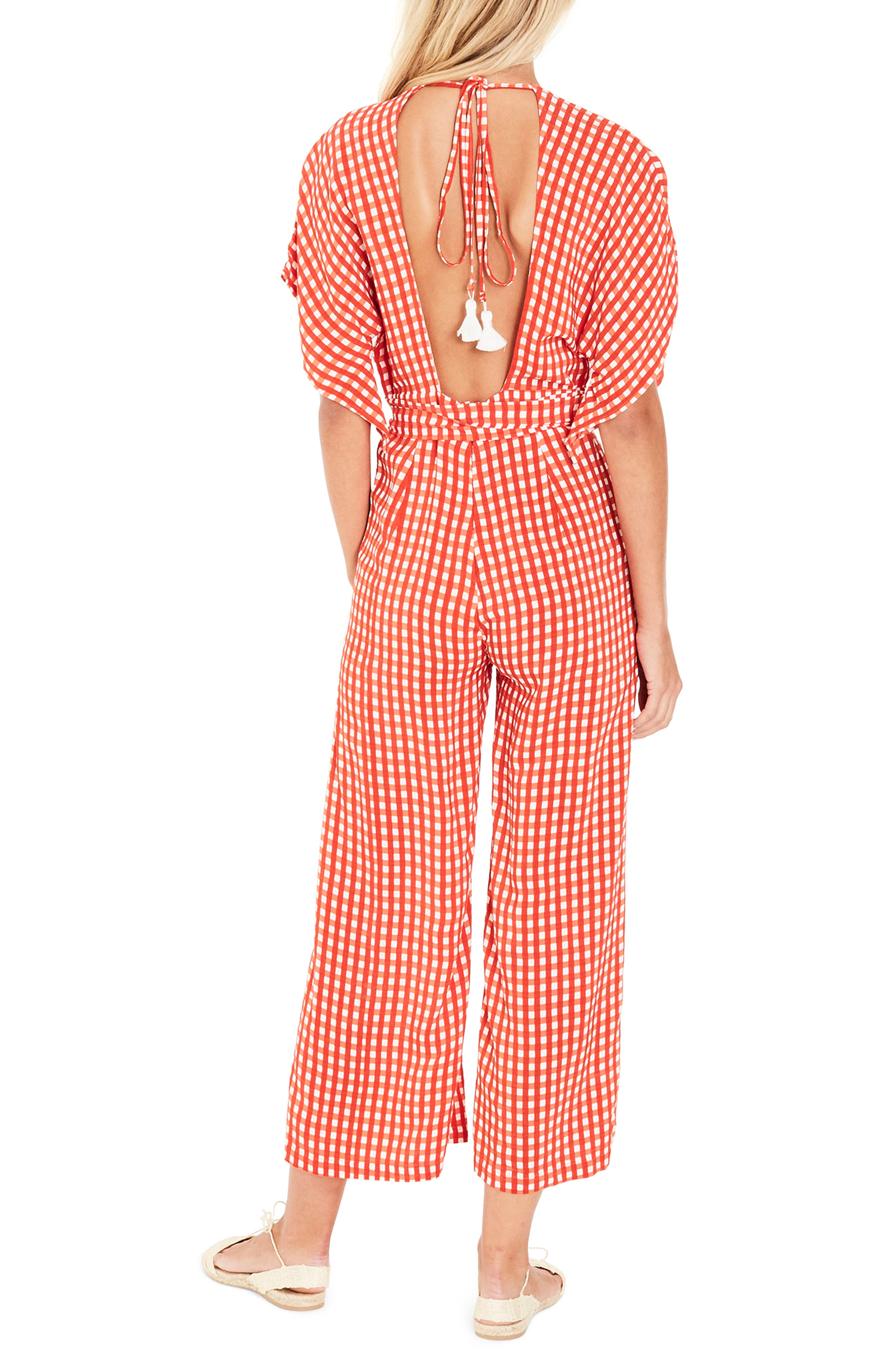 Alternate Image 3  - FAITHFULL THE BRAND Cedric Gingham Plunge Neck Jumpsuit