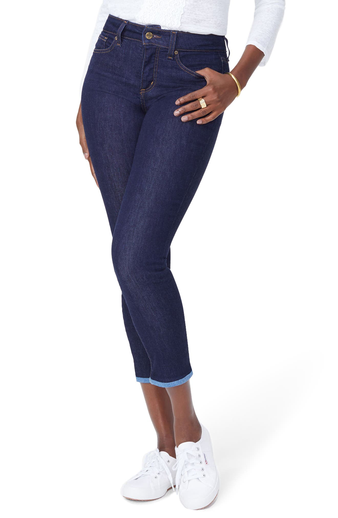 Alina Ankle Skinny Jeans,                         Main,                         color, Rinse