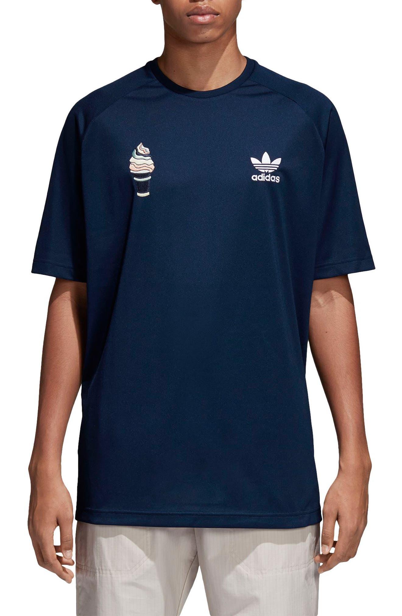 Football T-Shirt,                             Main thumbnail 1, color,                             Collegiate Navy