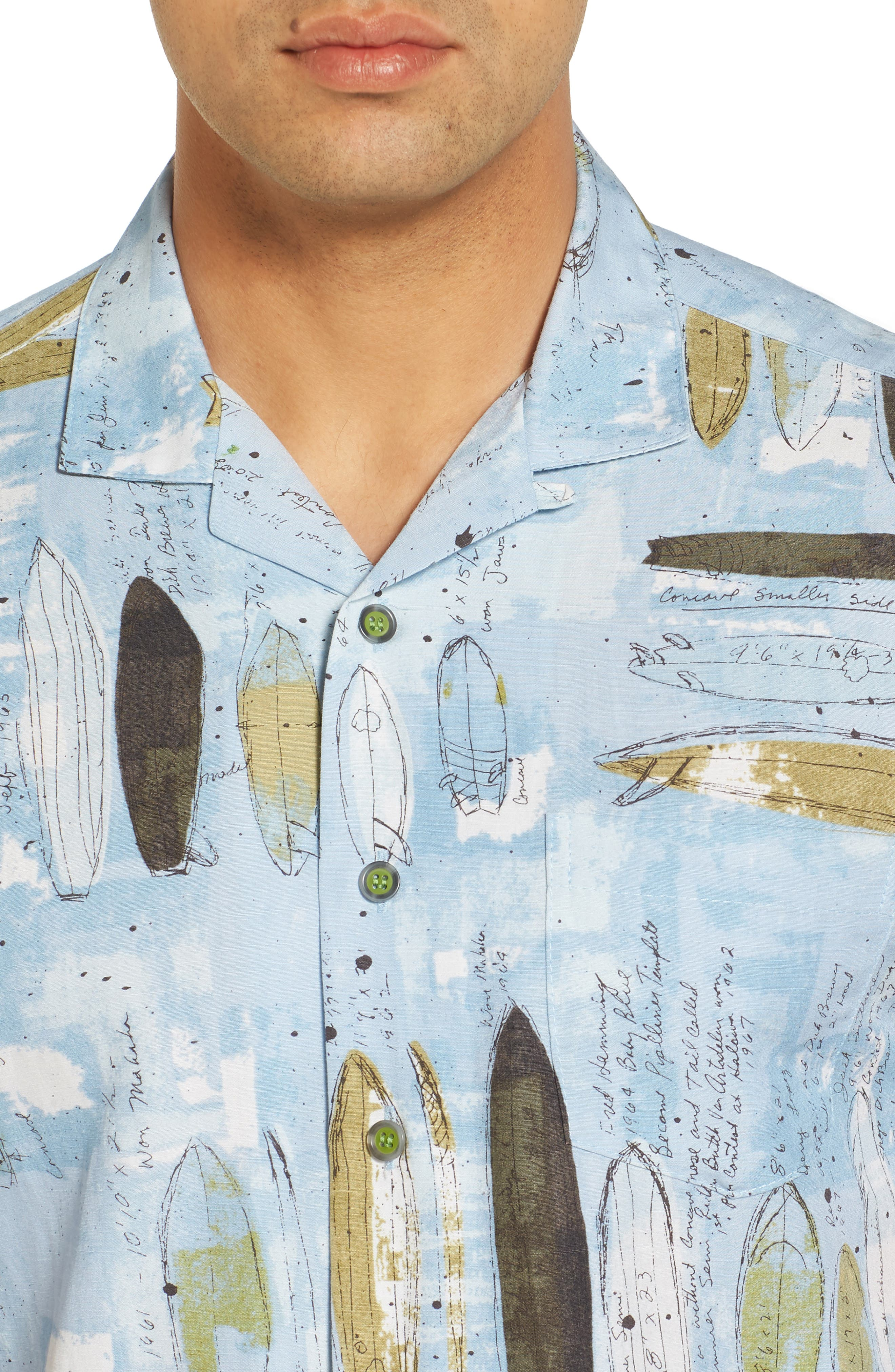 Shaping Room Regular Fit Camp Shirt,                             Alternate thumbnail 4, color,                             Surf