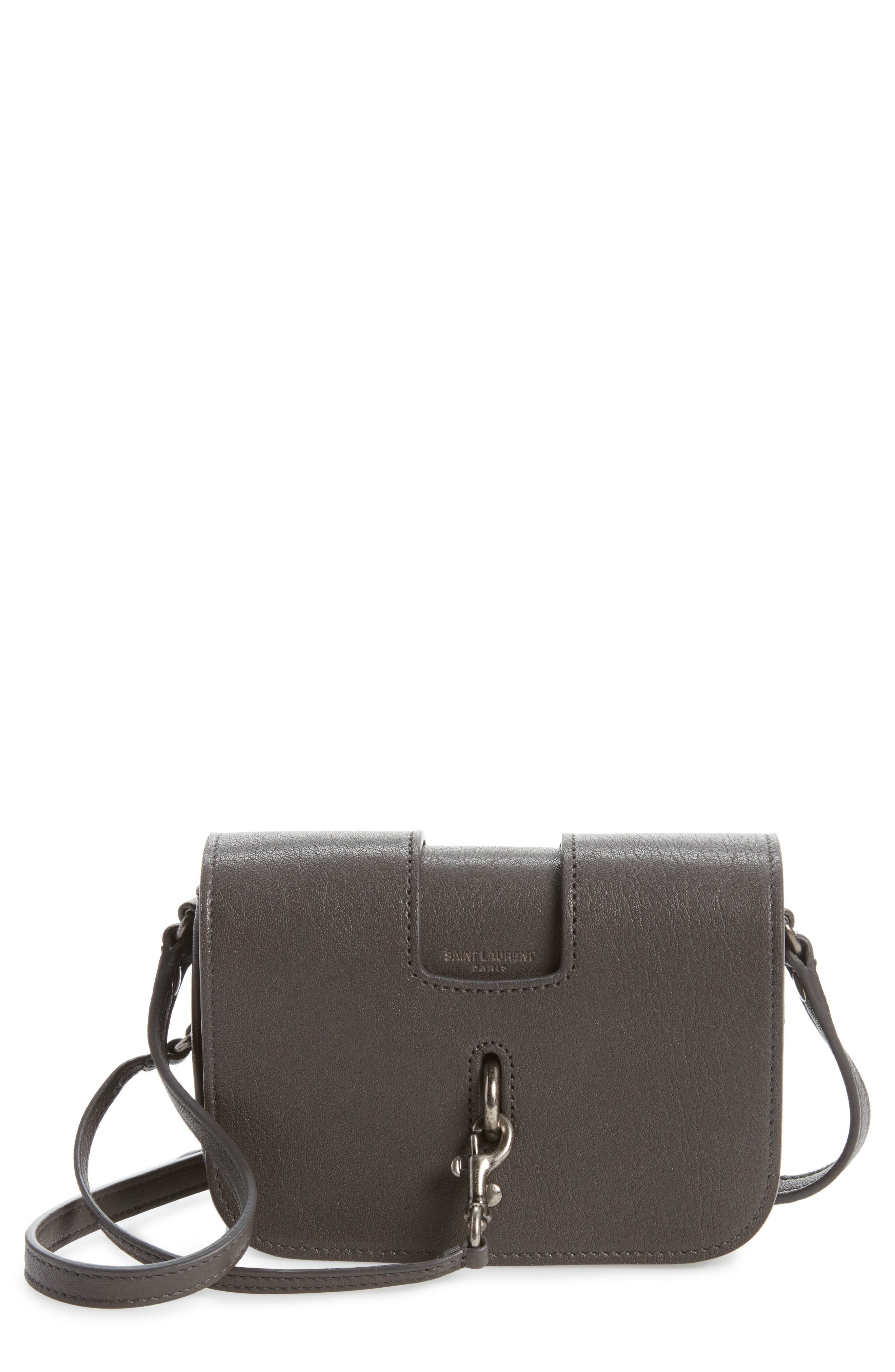 Saint Laurent Calfskin Leather Crossbody Bag