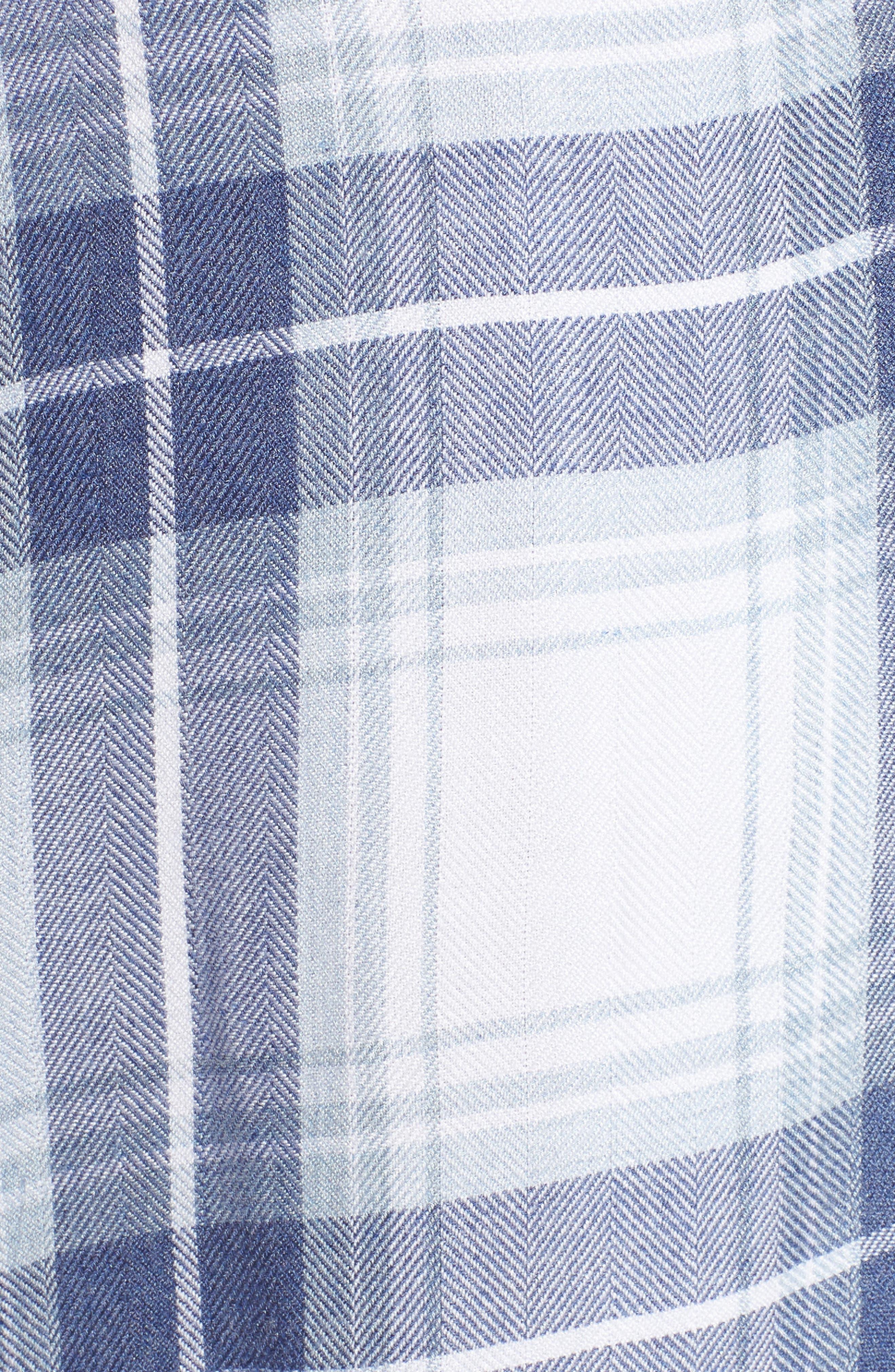 Plaid Pajamas,                             Alternate thumbnail 6, color,                             Pacific Sky White