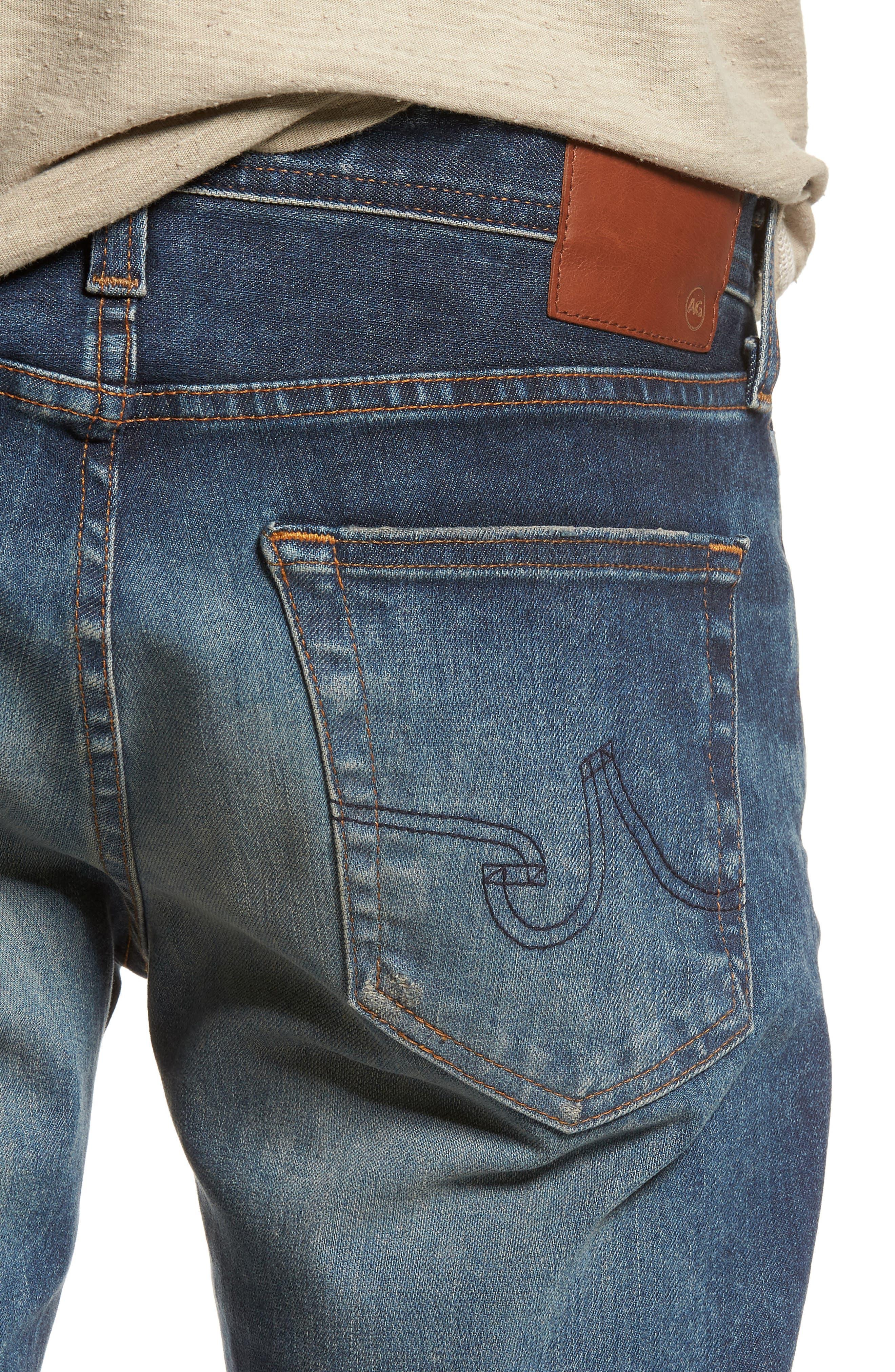 Dylan Slim Skinny Fit Jeans,                             Alternate thumbnail 4, color,                             12 Years River Veil