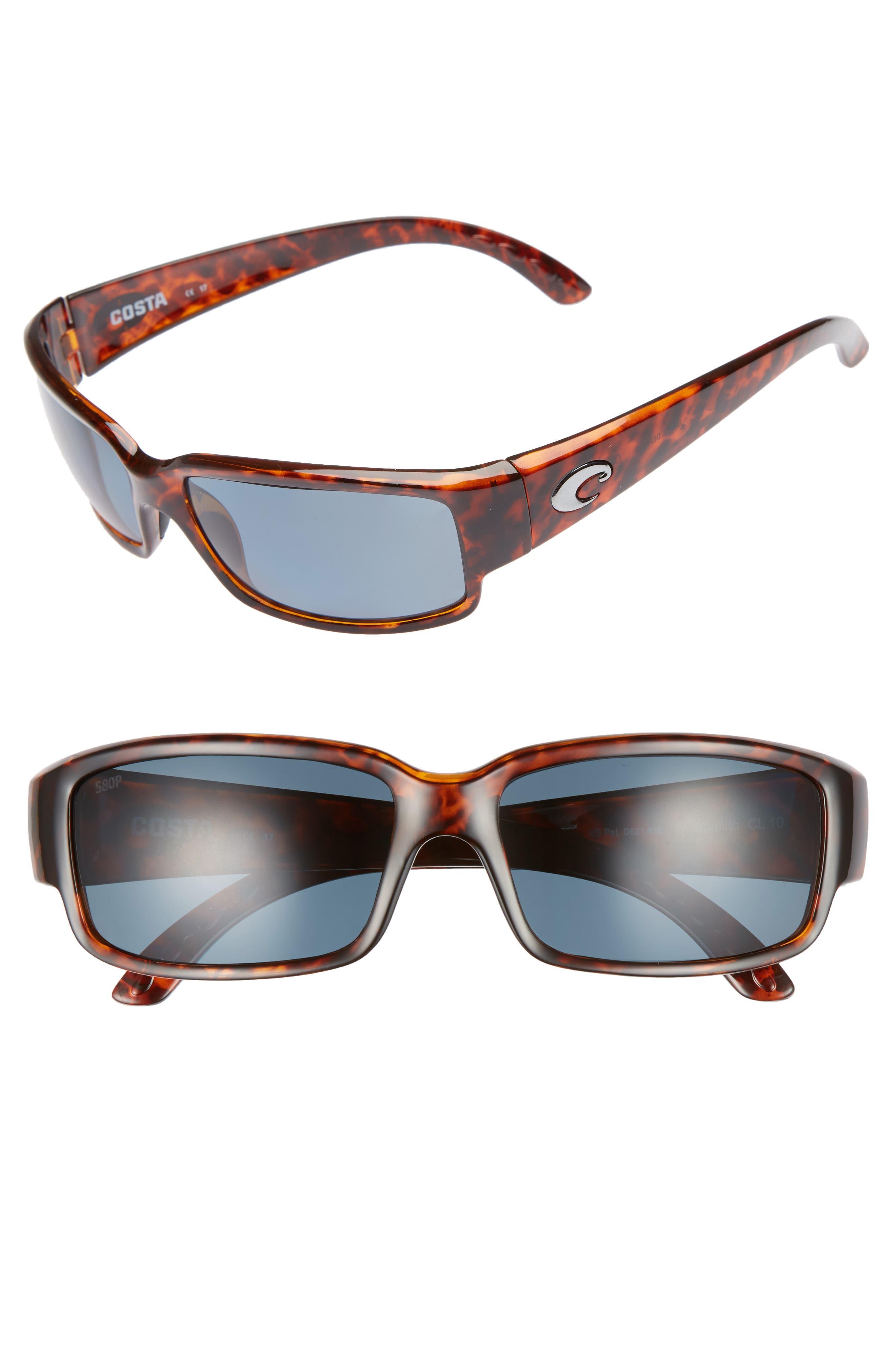 Caballito 60mm Polarized Sunglasses,                             Main thumbnail 1, color,                             Tortoise/ Grey