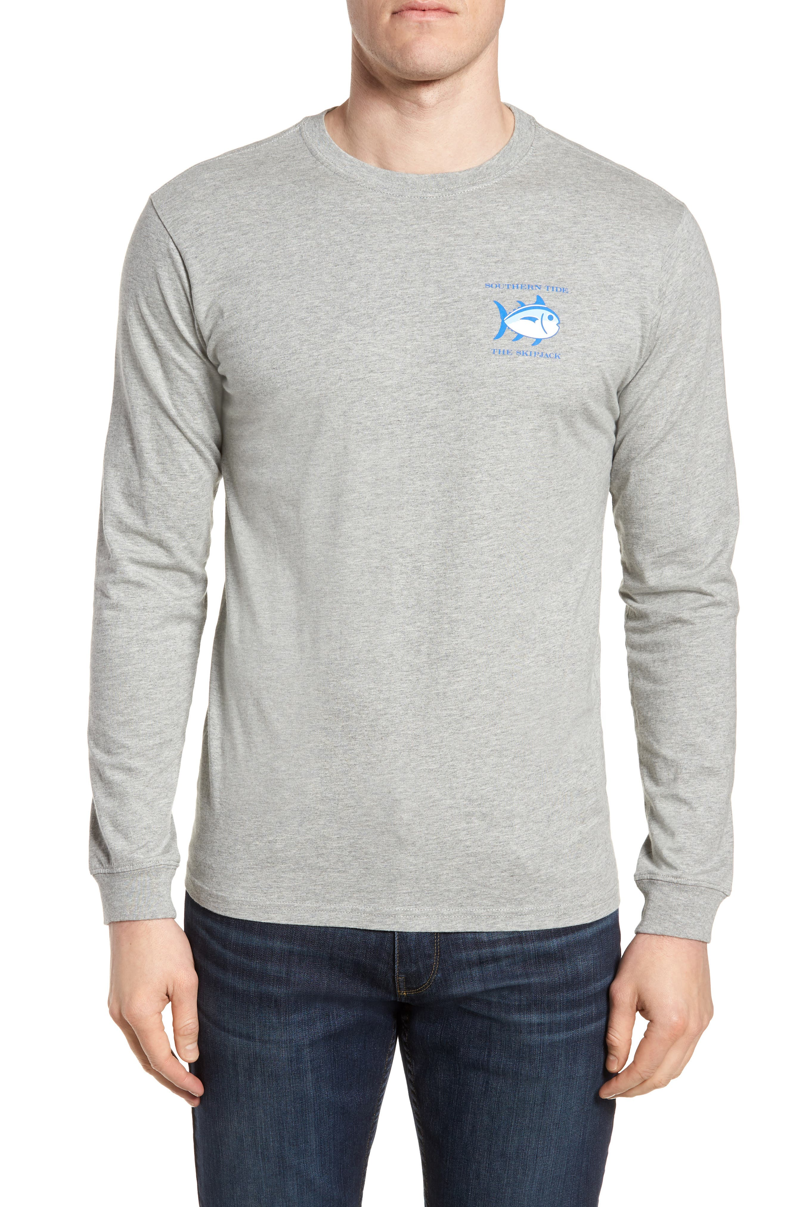 SOUTHERN TIDE Original Skipjack T-Shirt in Grey