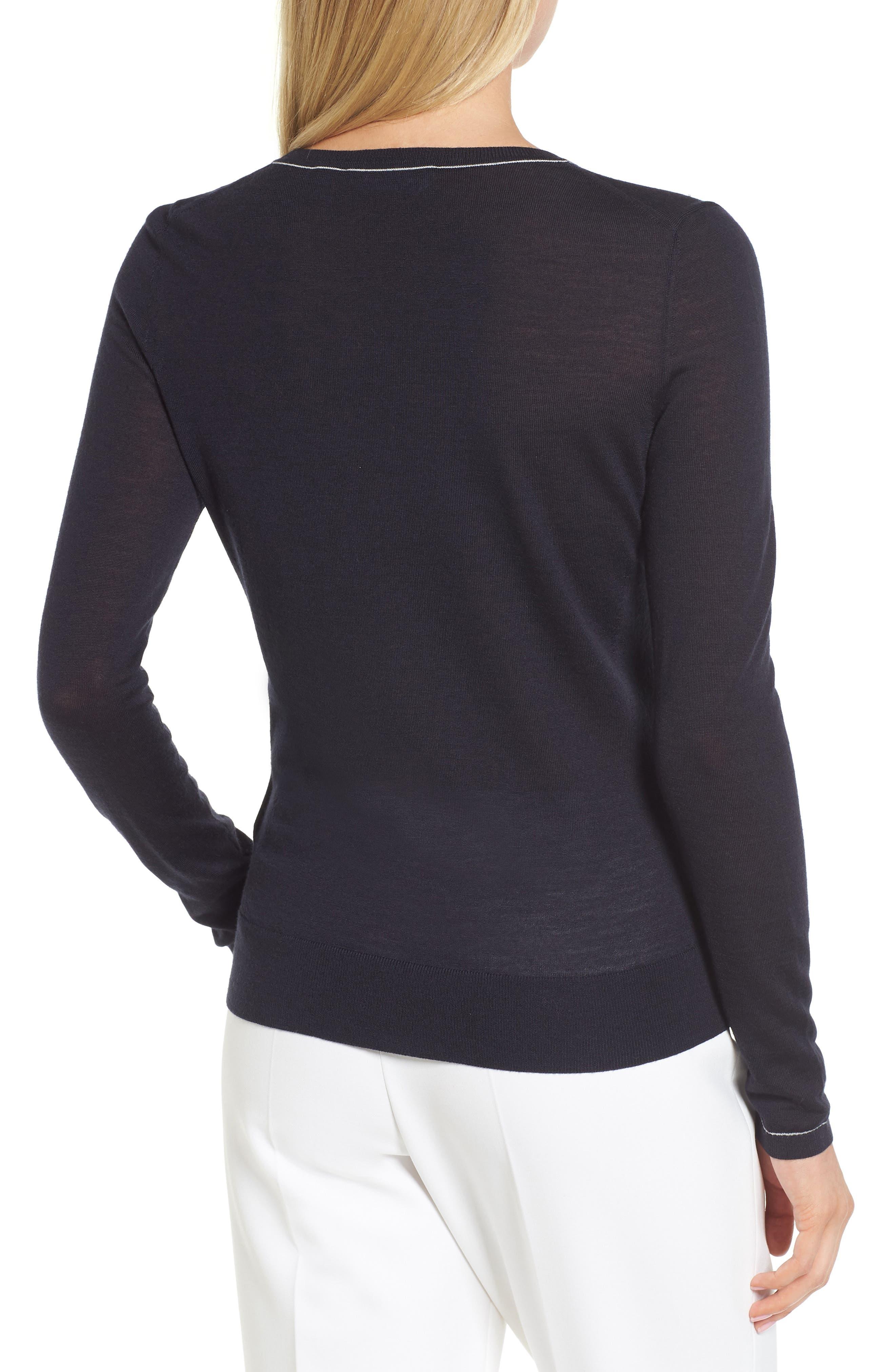 Femma Wool Sweater,                             Alternate thumbnail 2, color,                             Navy