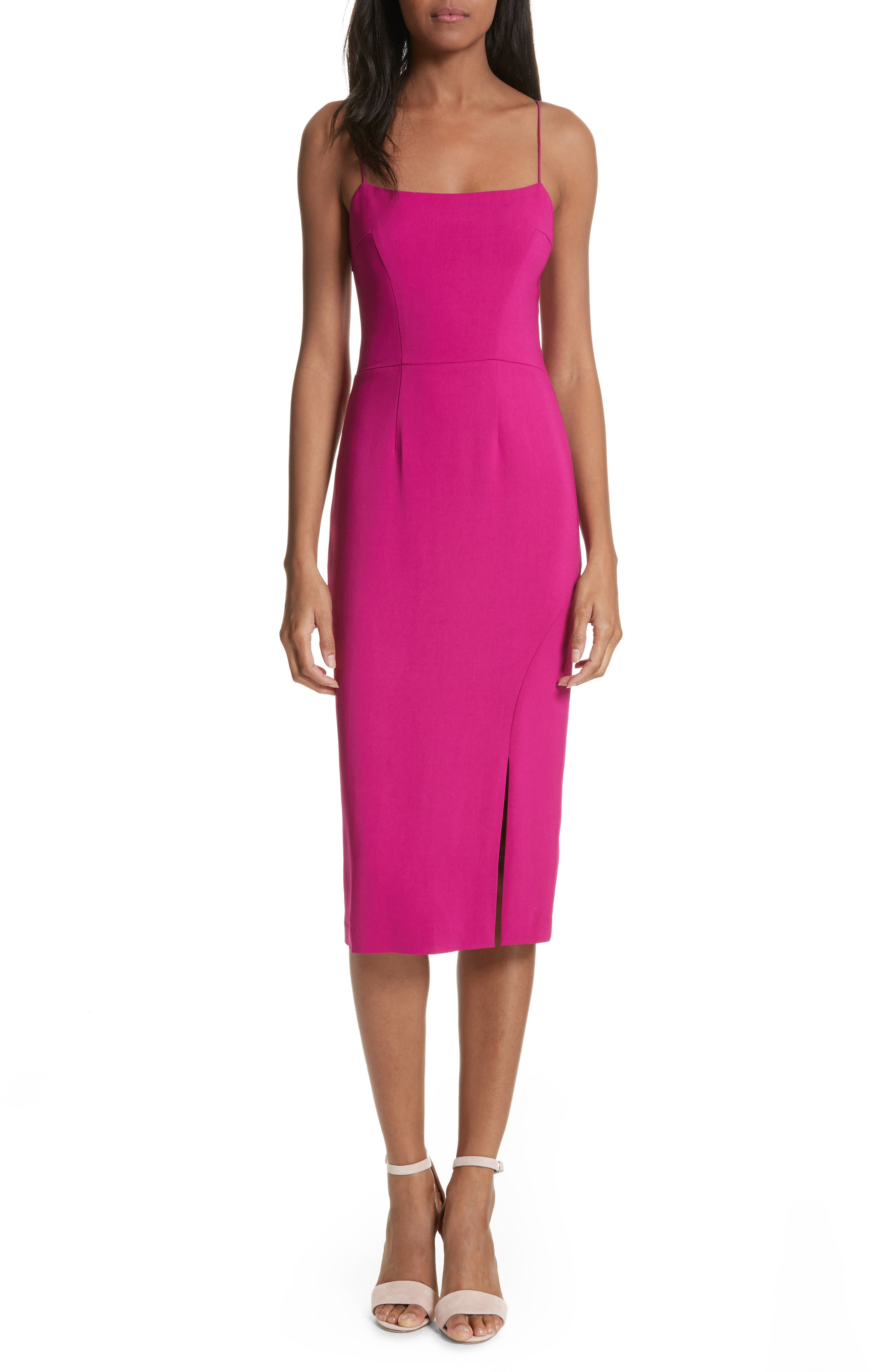 Slip Sheath Dress,                         Main,                         color, Cyclamen
