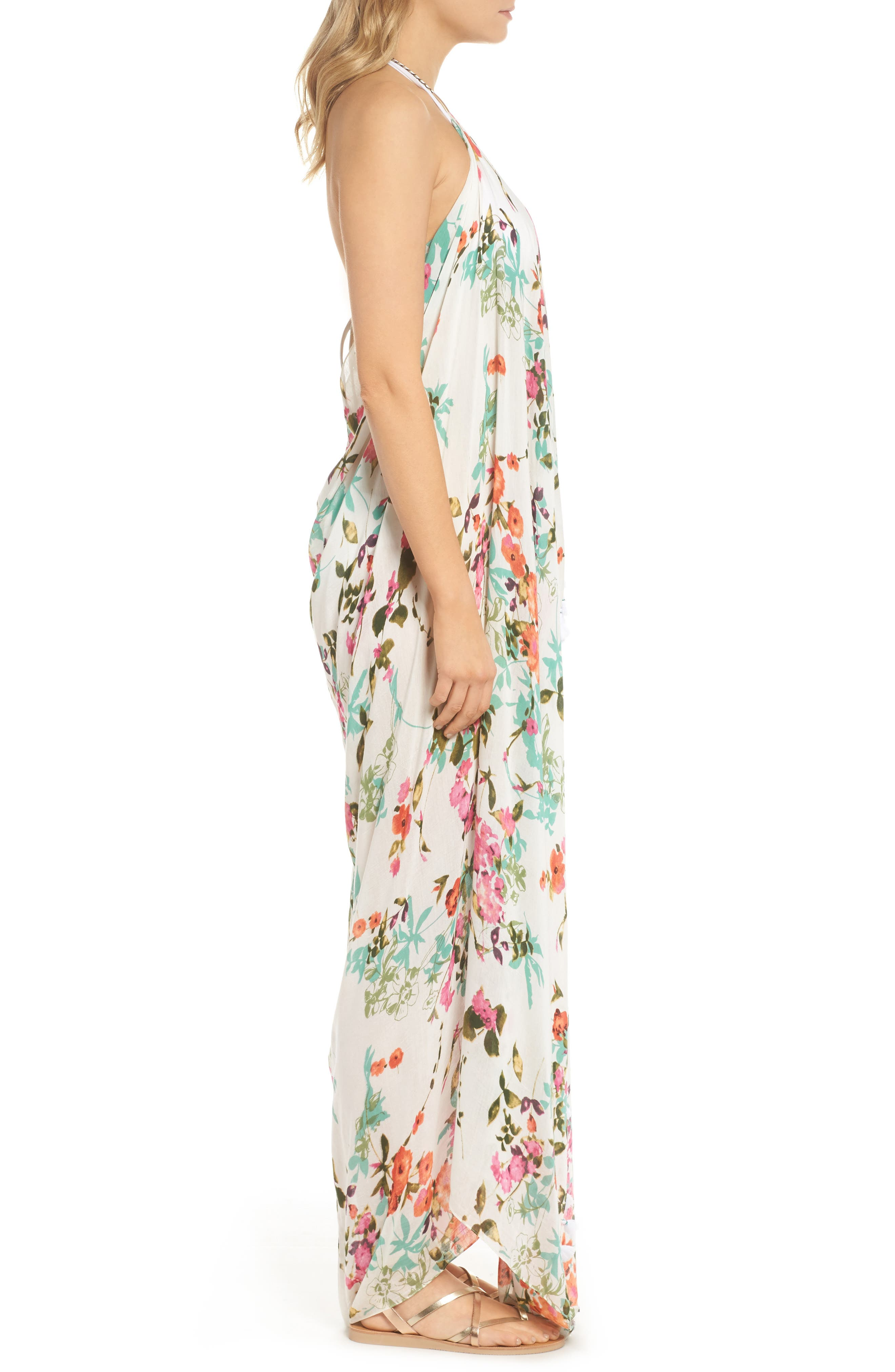 Beach to Street Cover-Up Dress,                             Alternate thumbnail 3, color,                             White