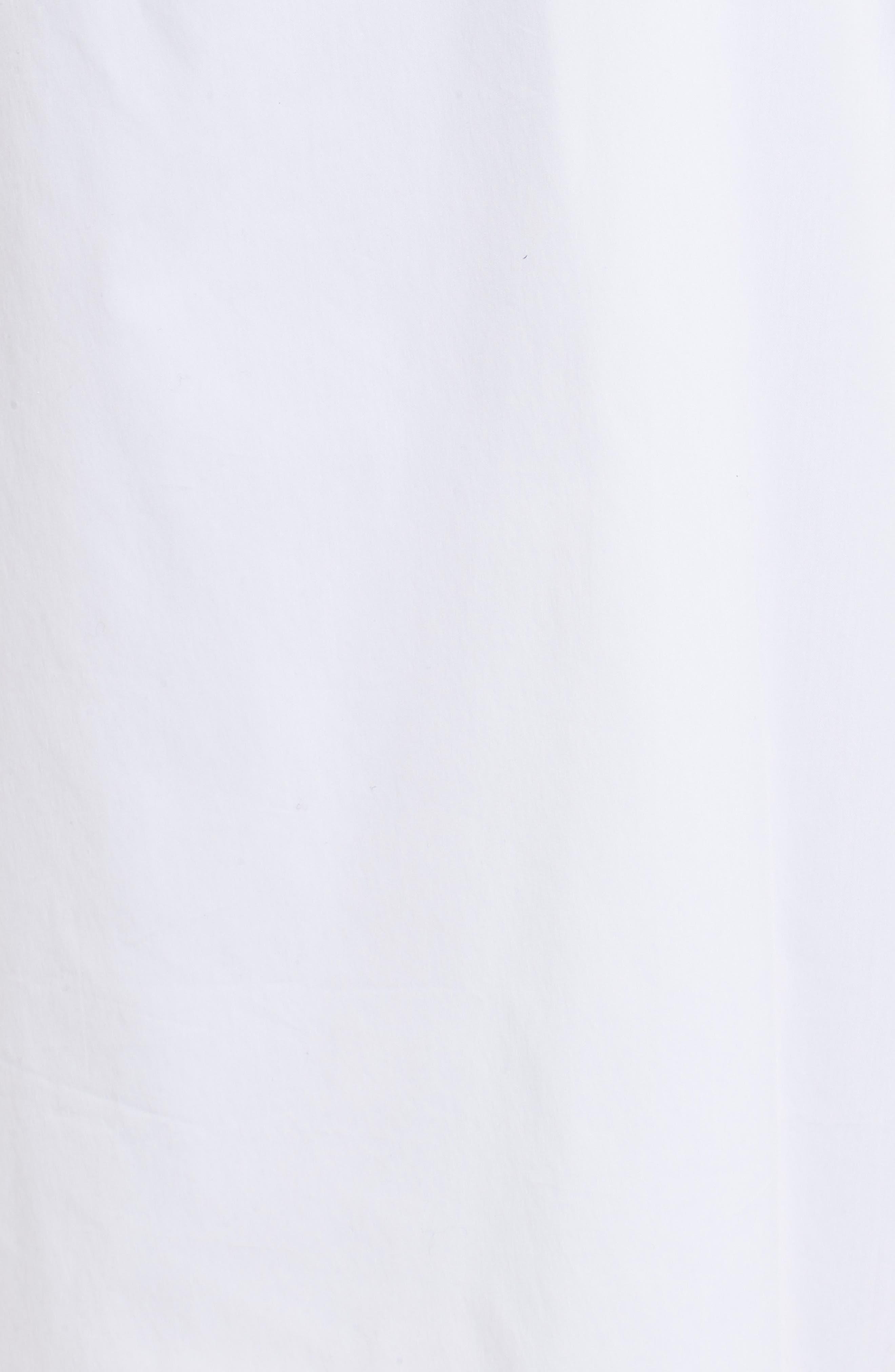 Ruched Front Midi Skirt,                             Alternate thumbnail 5, color,                             White