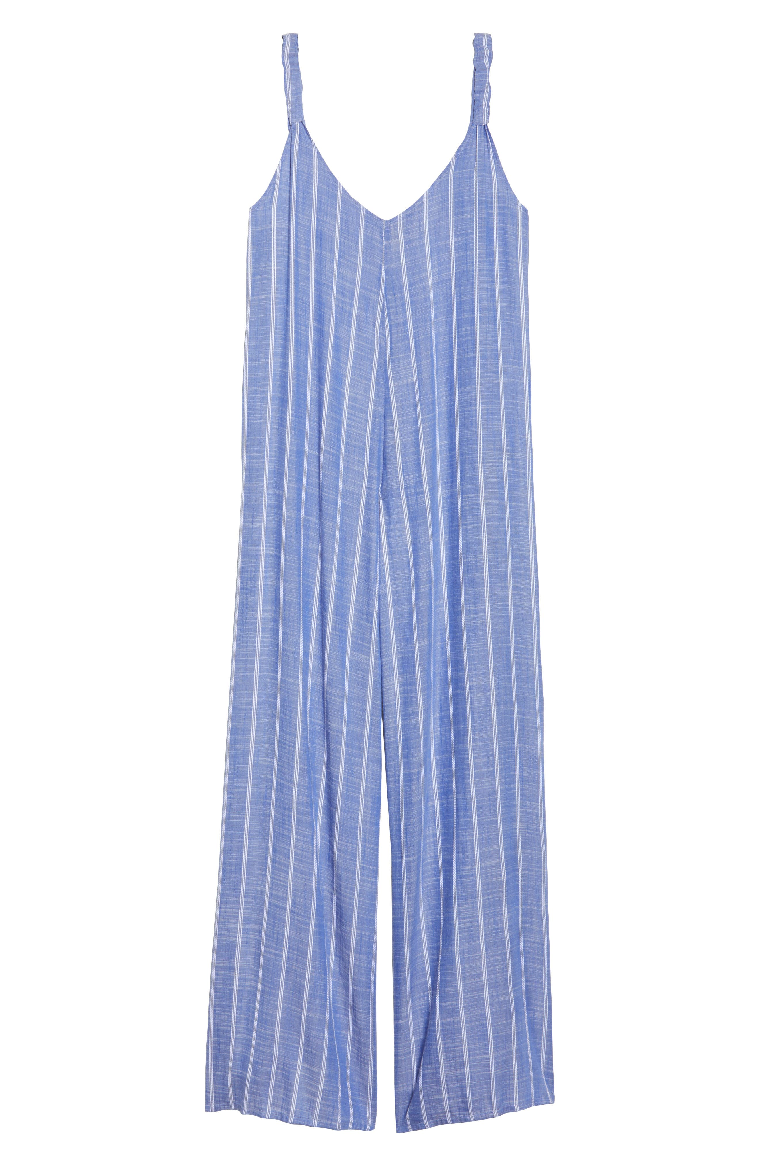 Cover-Up Jumpsuit,                             Alternate thumbnail 6, color,                             Blue Stripe (Chambray)