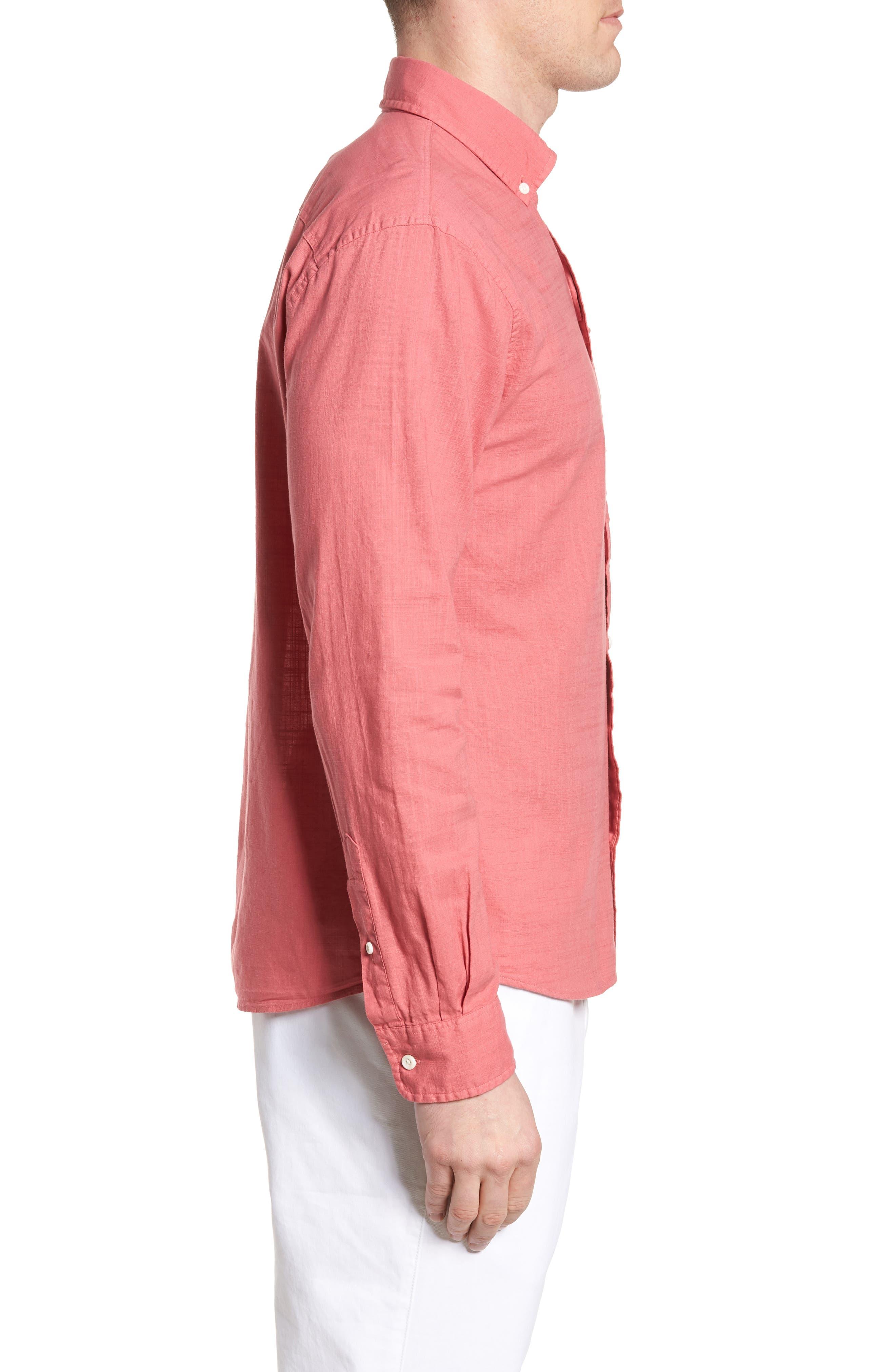 Brodie Regular Fit Sport Shirt,                             Alternate thumbnail 3, color,                             Calypso