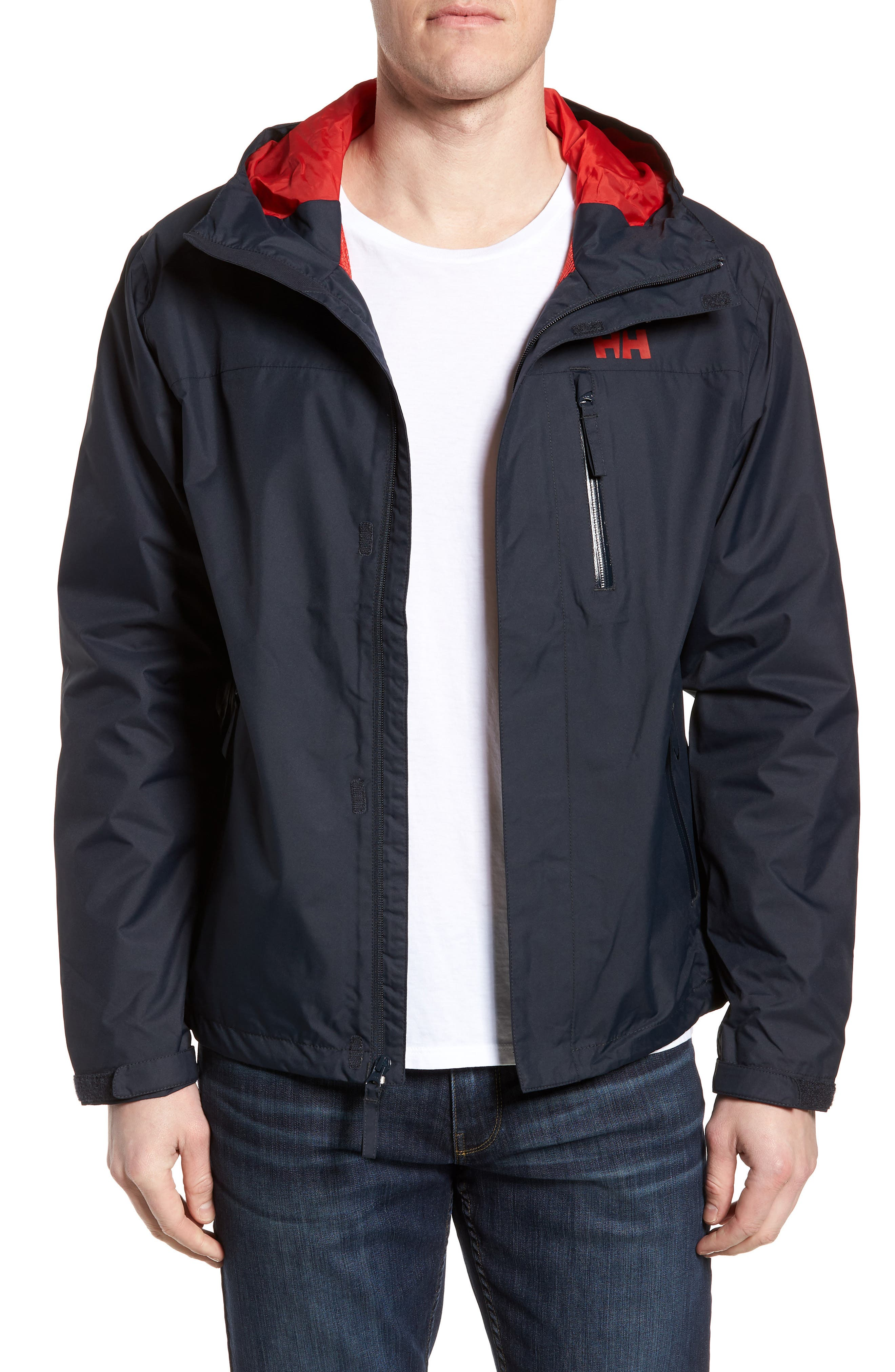 'Vancouver' Packable Rain Jacket,                             Main thumbnail 1, color,                             Navy/ Navy