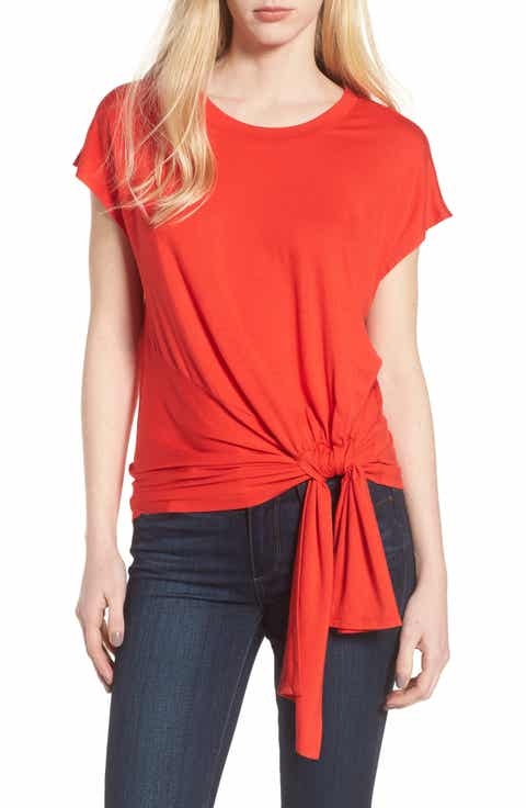 Trouv? Knot Front Tee