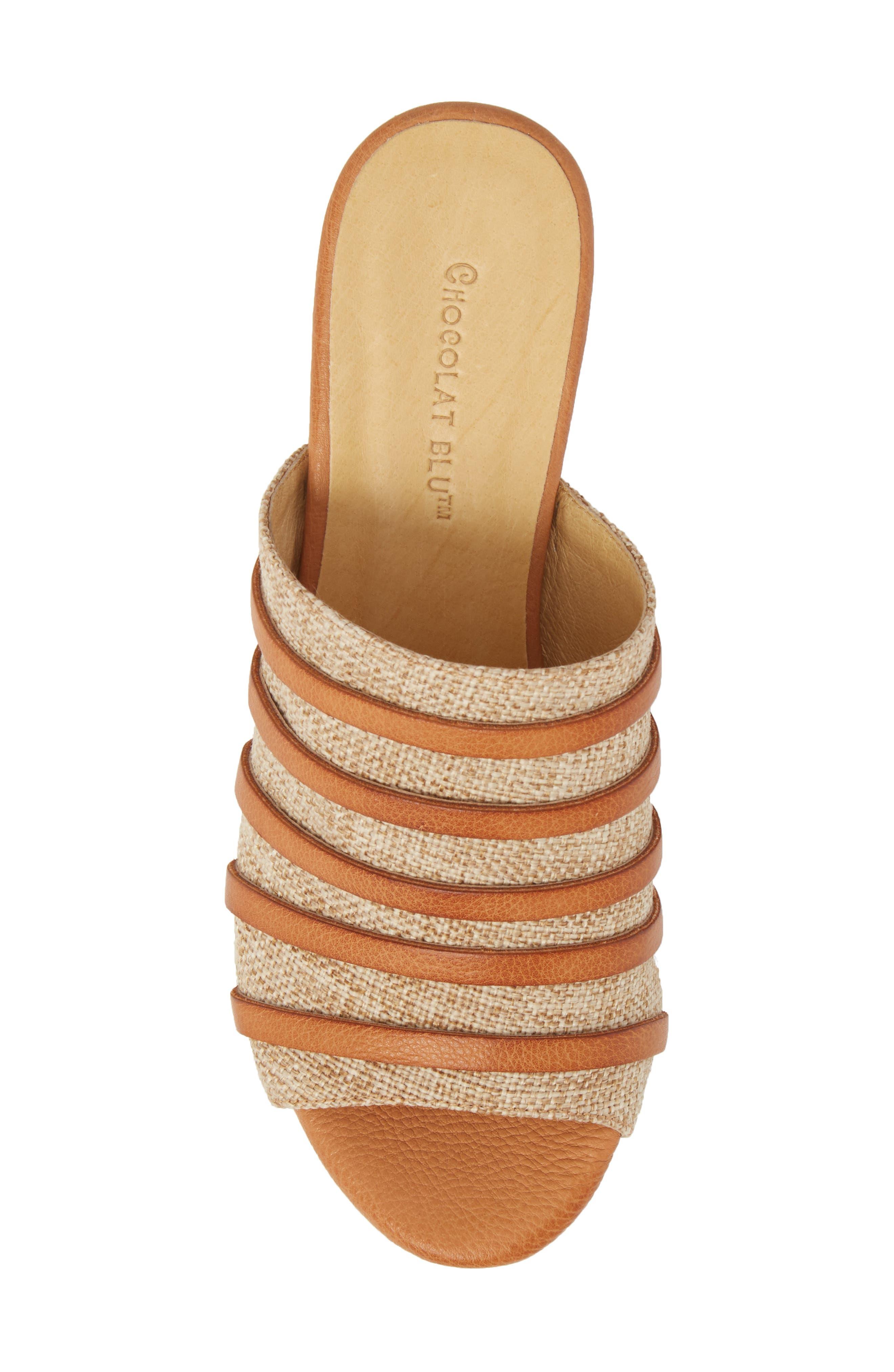 Wapi Wedge Sandal,                             Alternate thumbnail 5, color,                             Camel Leather