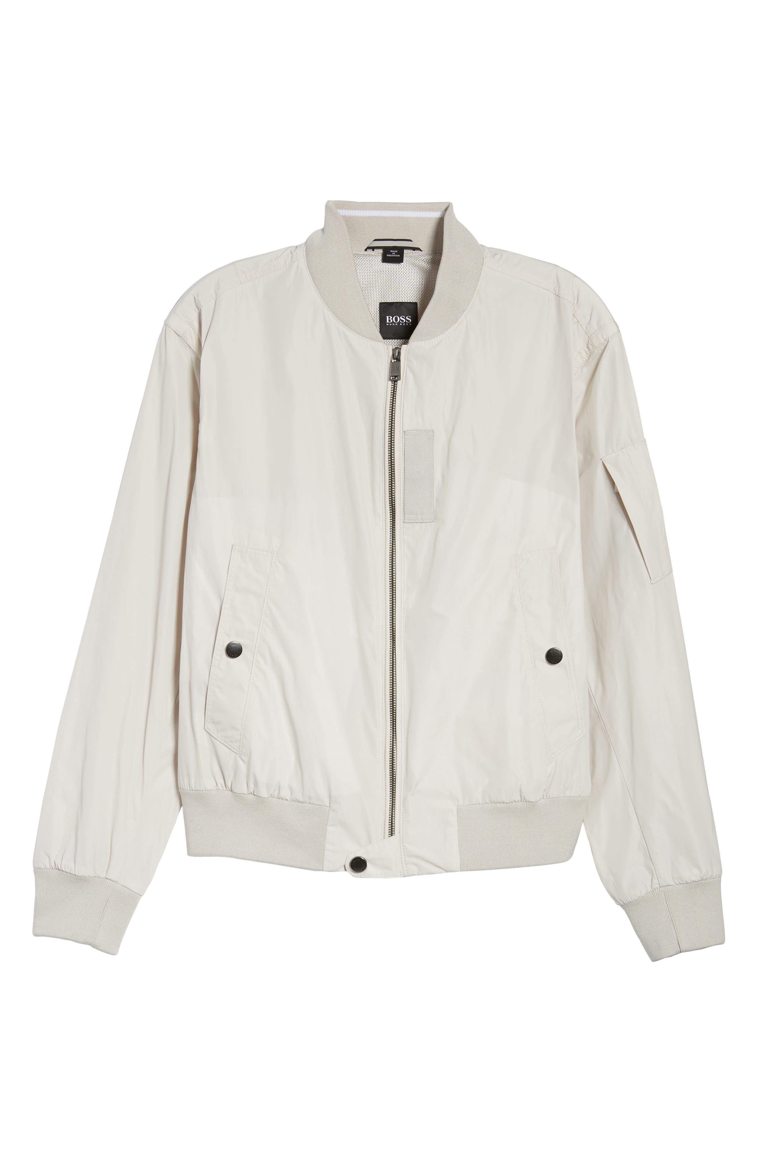 Regular Fit Bomber Jacket,                             Alternate thumbnail 6, color,                             White
