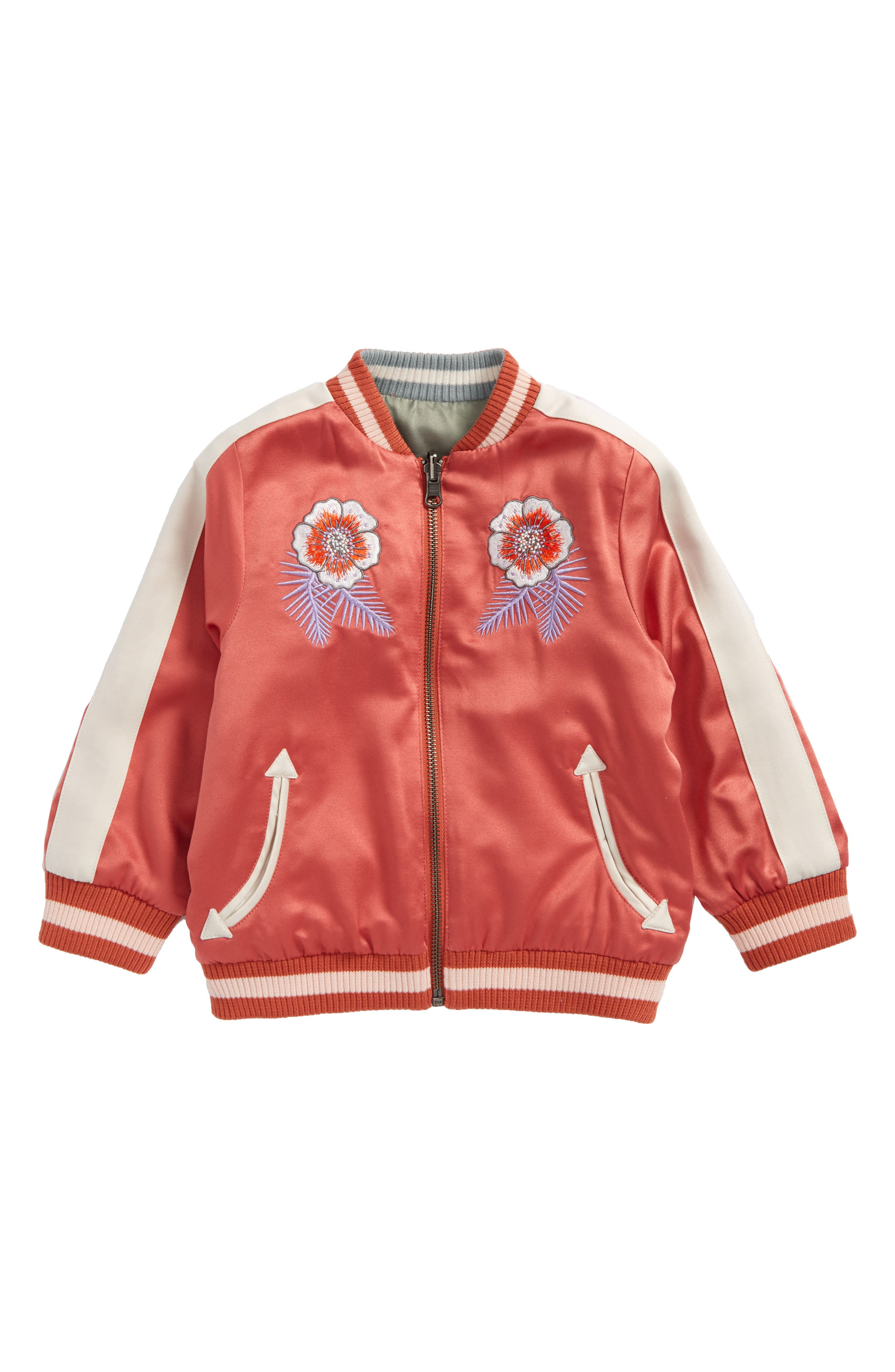 Stella McCartney Willow Embroidered Reversible Bomber Jacket (Toddler Girls, Little Girls & Big Girls)