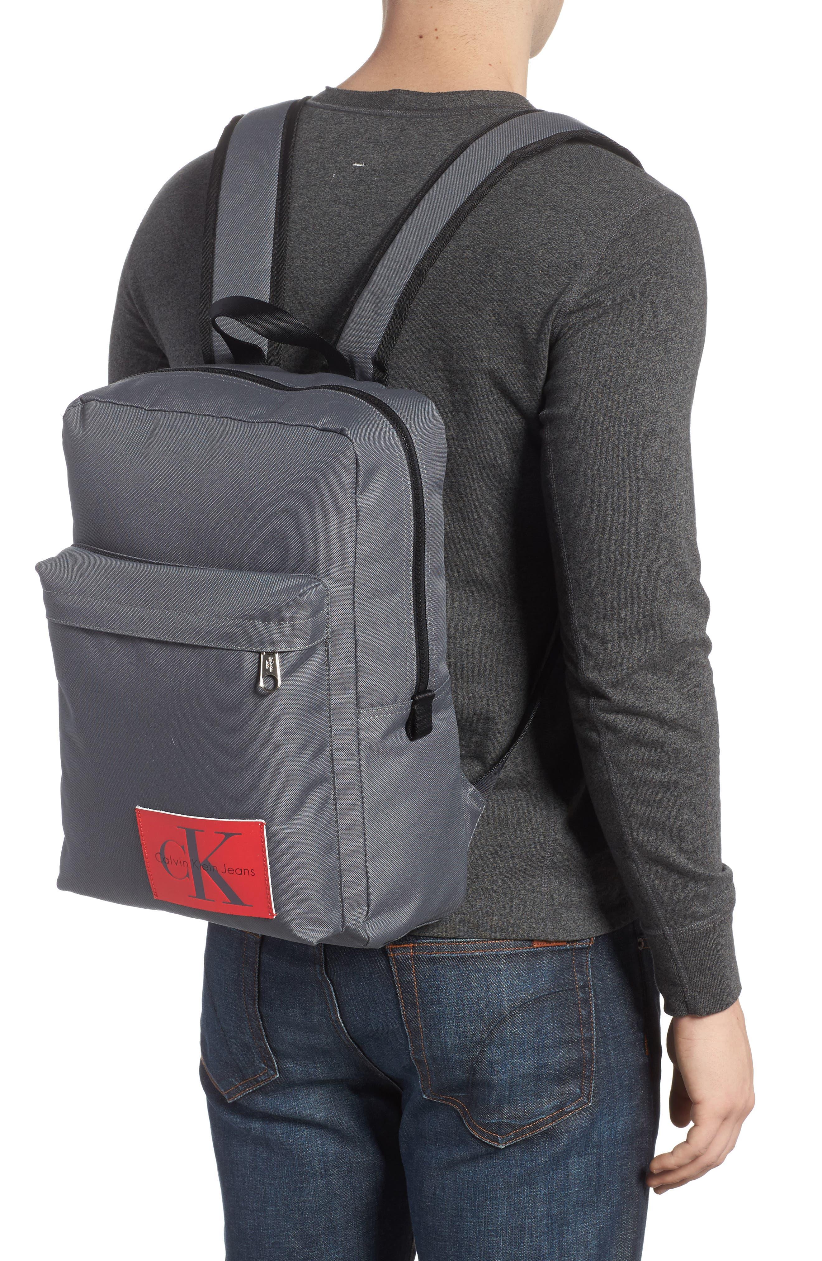 Slim Square Backpack,                             Alternate thumbnail 2, color,                             Charcoal