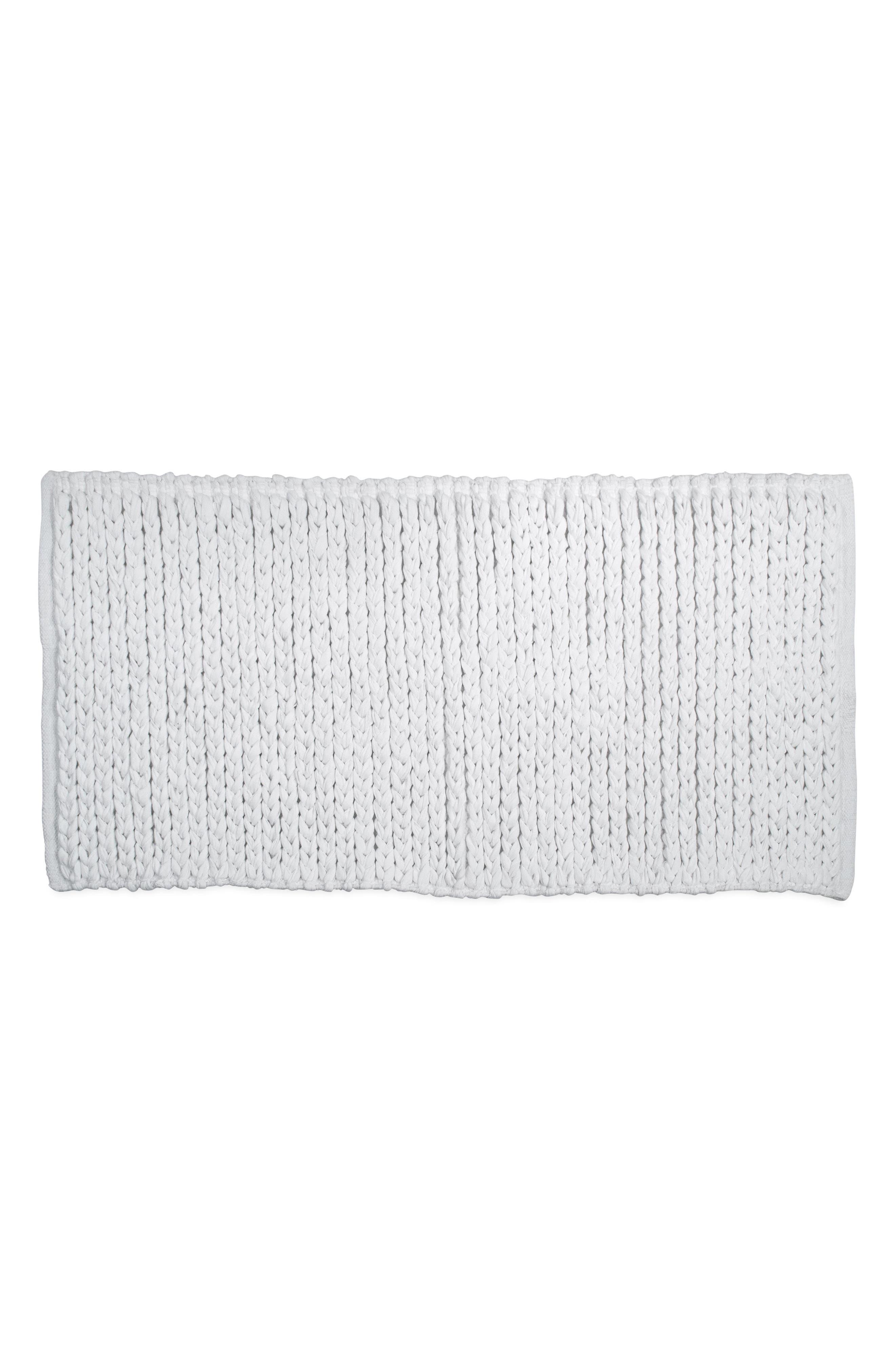Bath Rug,                             Main thumbnail 1, color,                             White