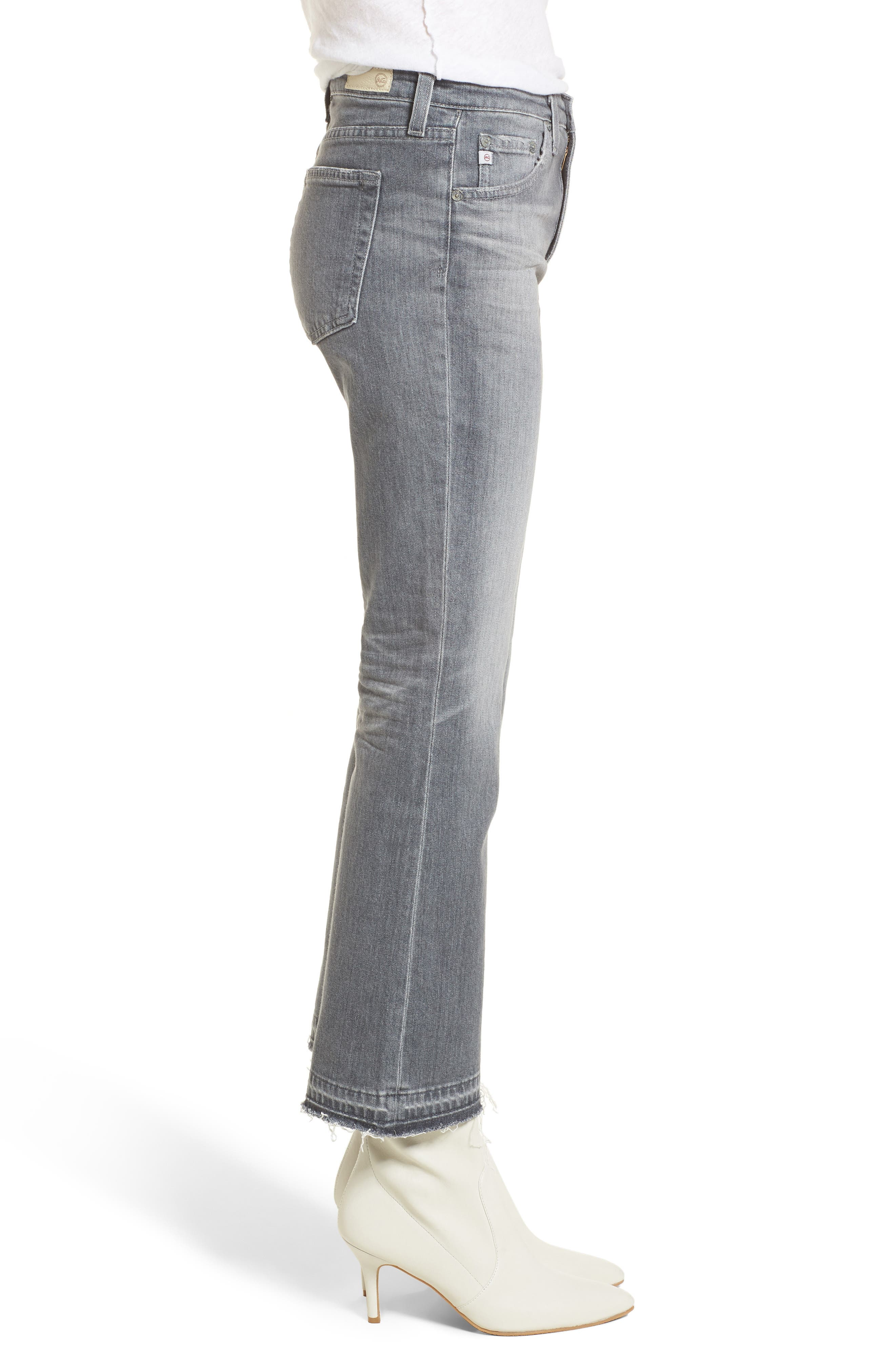 Alternate Image 3  - AG The Jodi Crop Flare Jeans (15 Years Grey Sulfur)