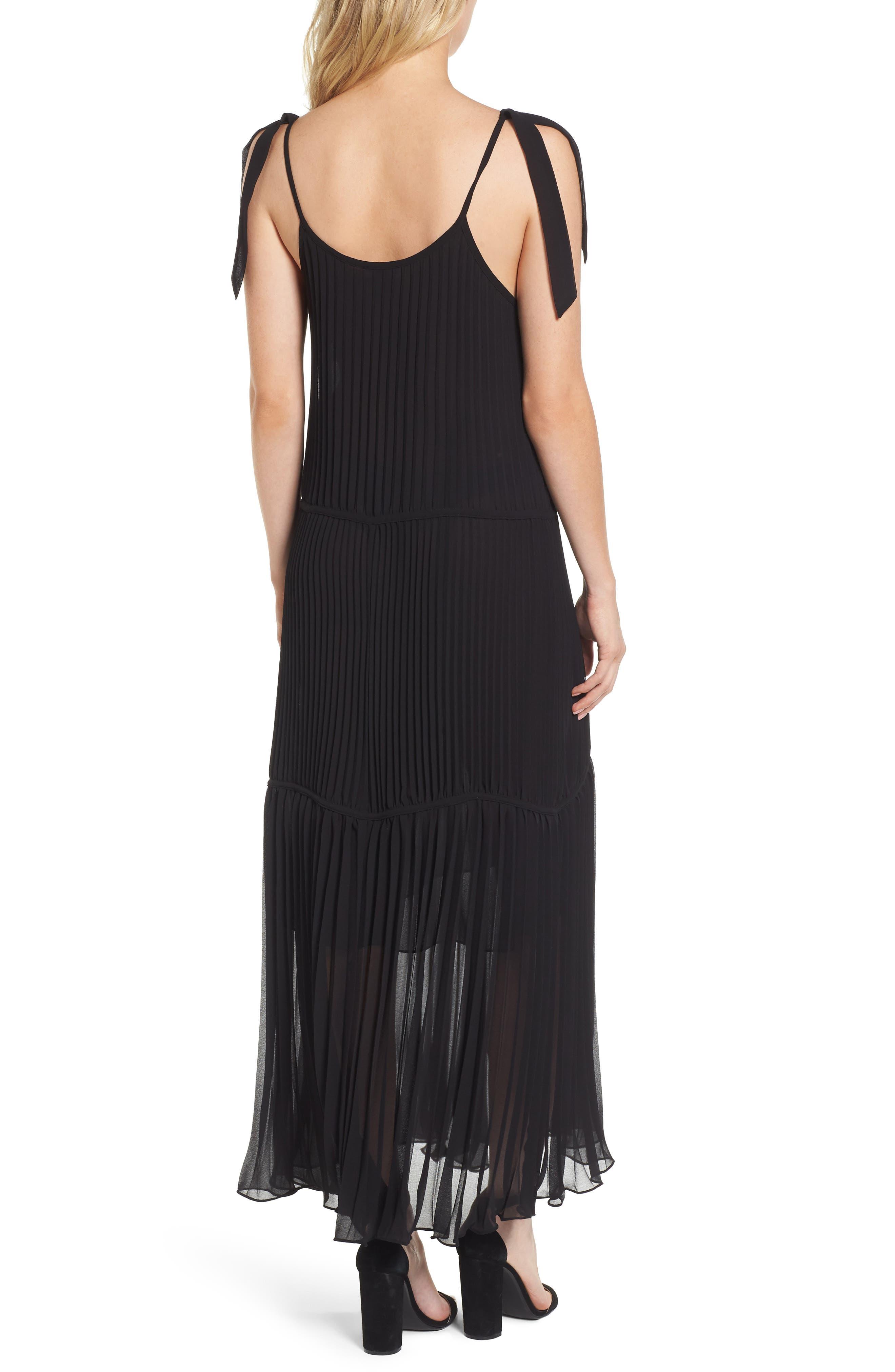 Chiffon Maxi Dress,                             Alternate thumbnail 2, color,                             Black