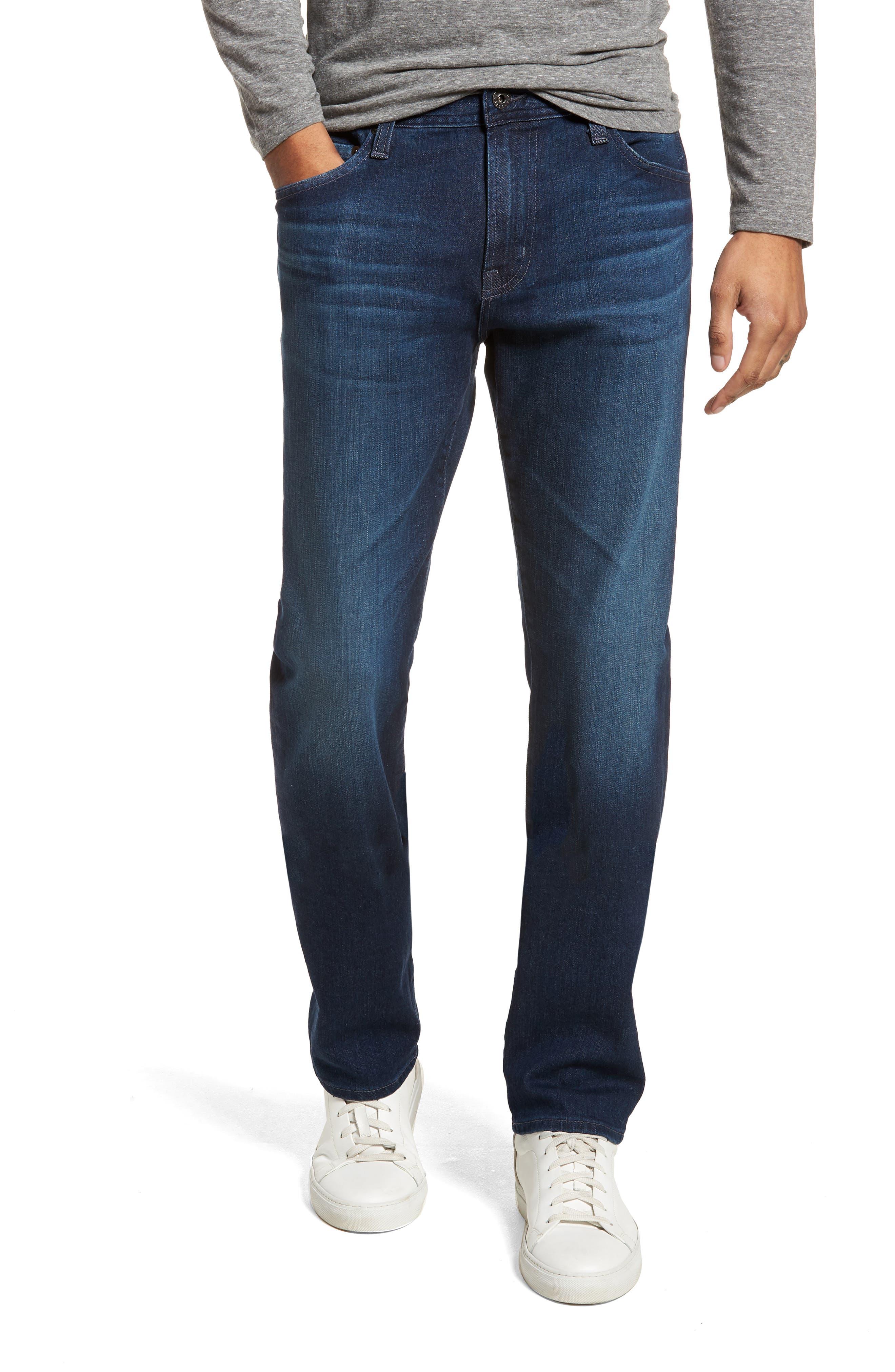 Everett Slim Straight Leg Jeans,                         Main,                         color, Cross Creek