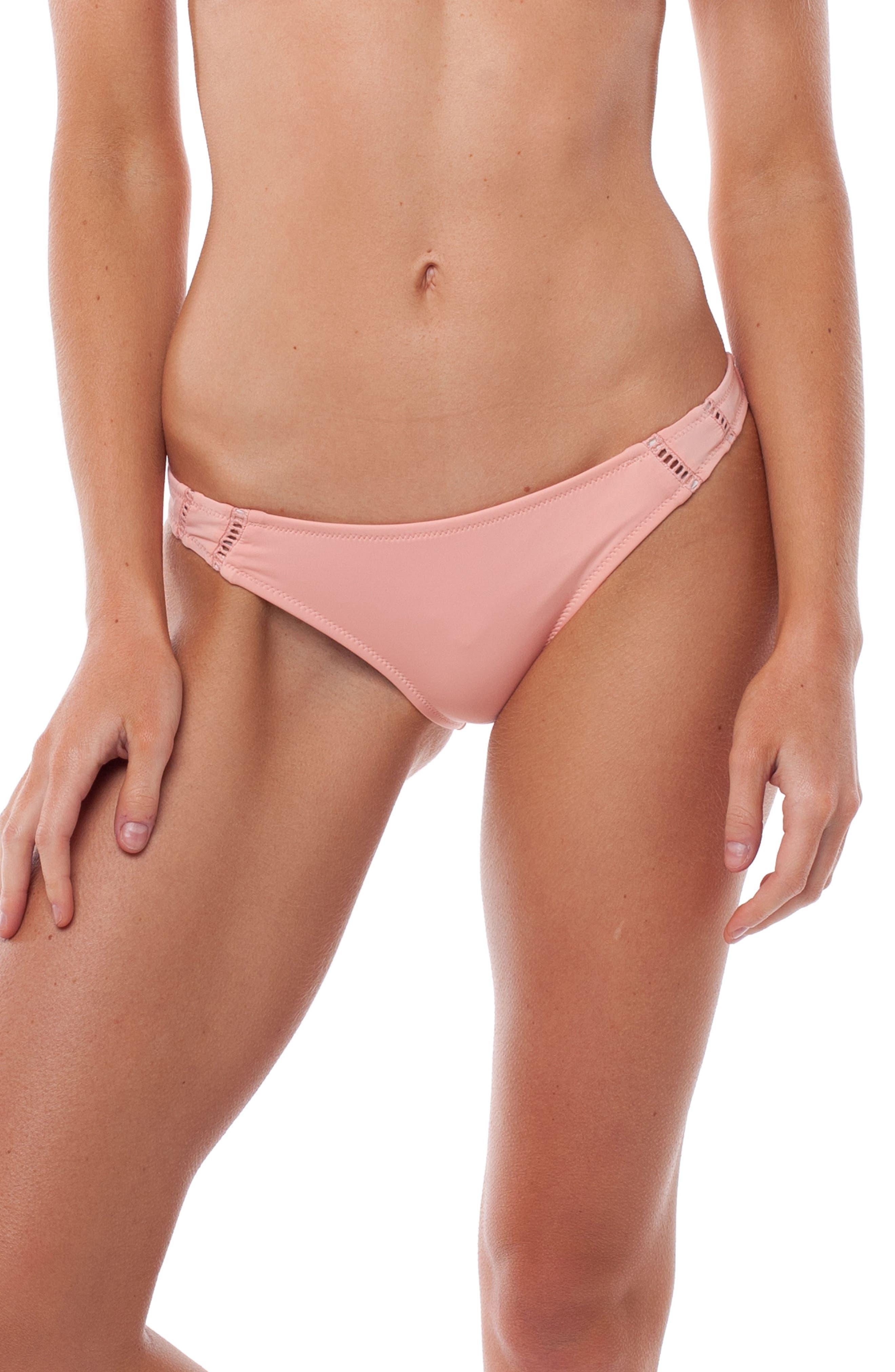 My Cheeky Bikini Bottoms,                             Main thumbnail 1, color,                             Flamingo