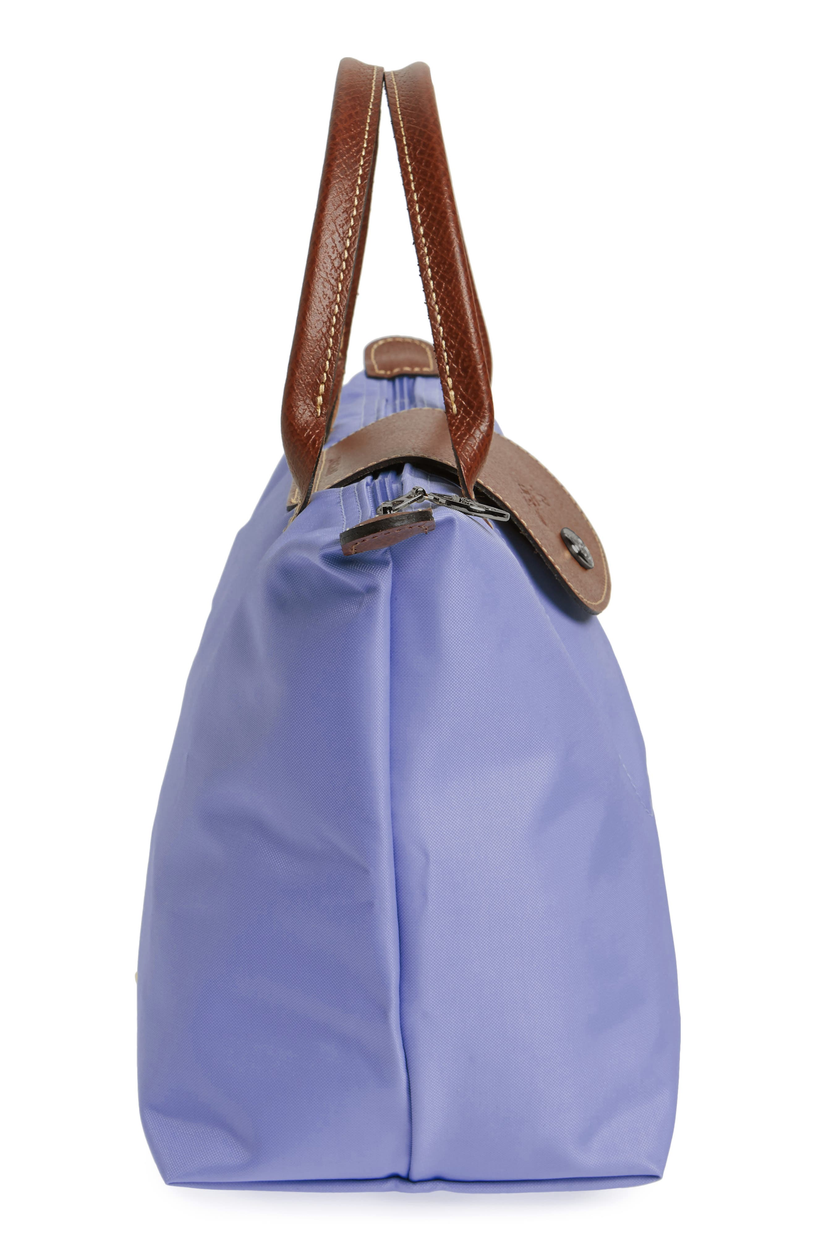 'Small Le Pliage' Top Handle Tote,                             Alternate thumbnail 5, color,                             Lavender